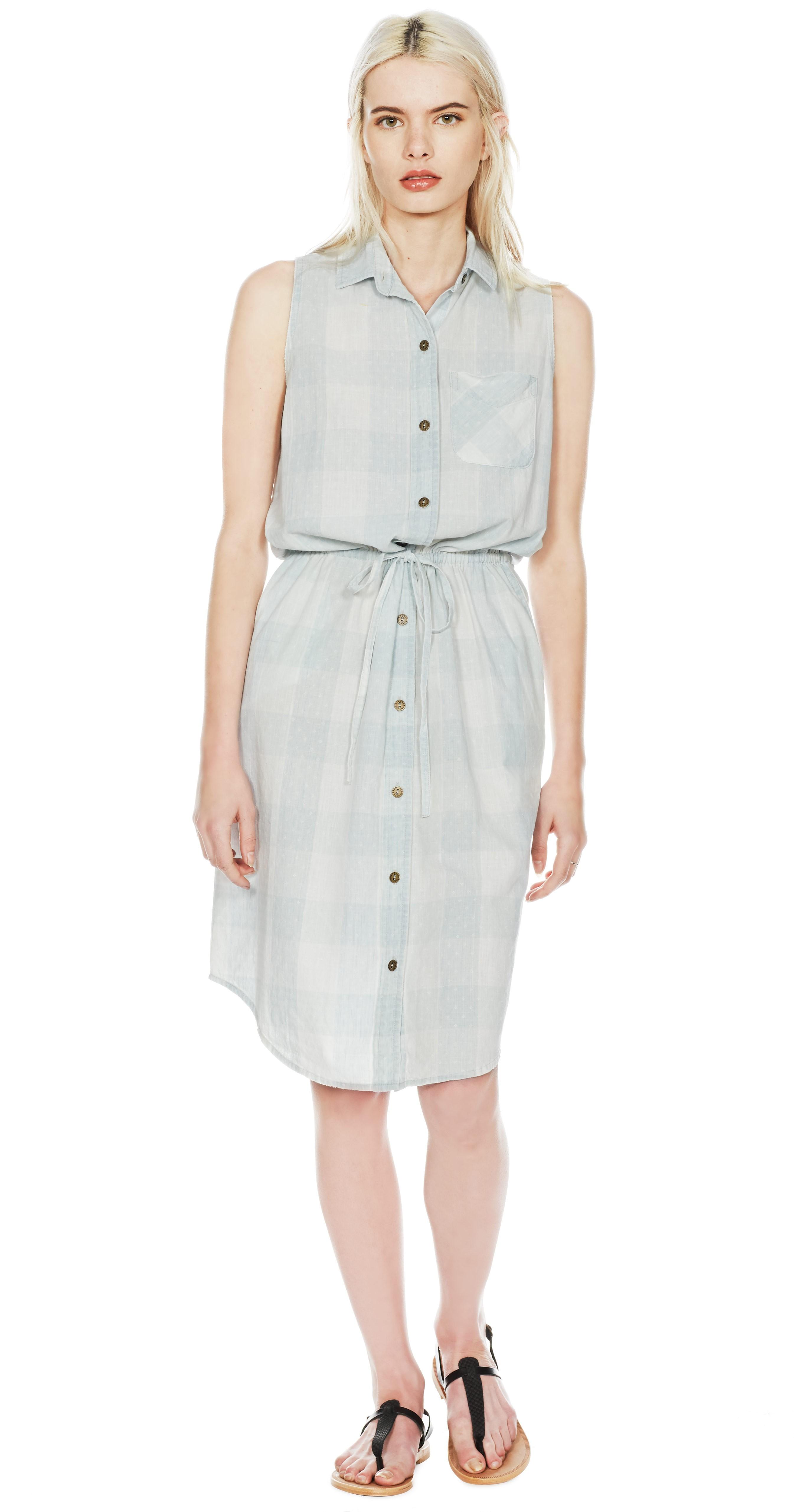 Lyst Current Elliott The Sleeveless Shirt Dress