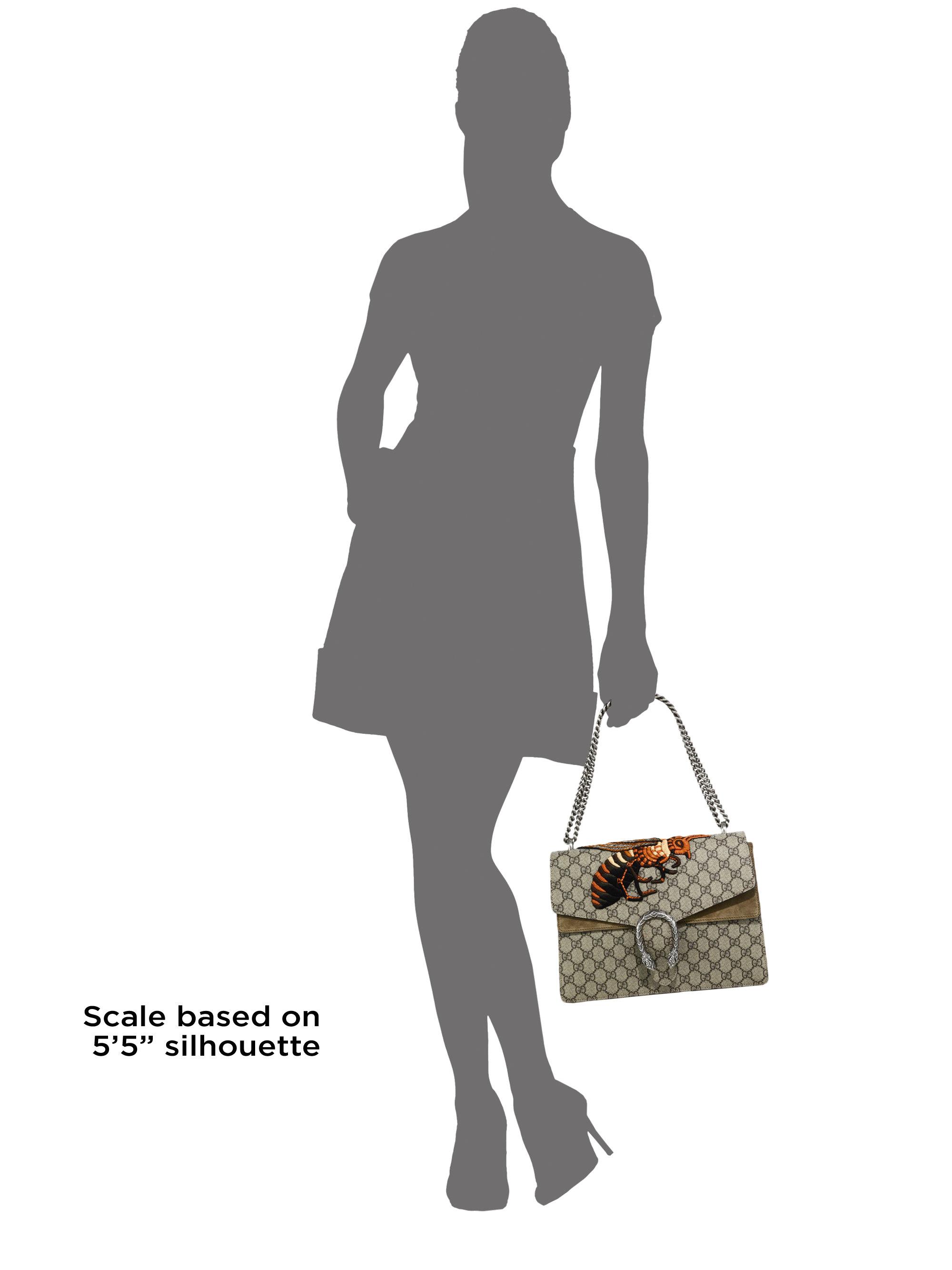 5aa31c36af87 Gucci Dionysus Gg Supreme Medium Canvas Embroidered Shoulder Bag - Lyst