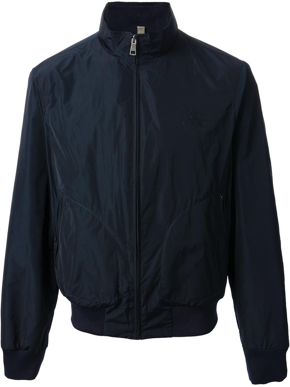 burberry brit zip jacket in black for men blue lyst. Black Bedroom Furniture Sets. Home Design Ideas