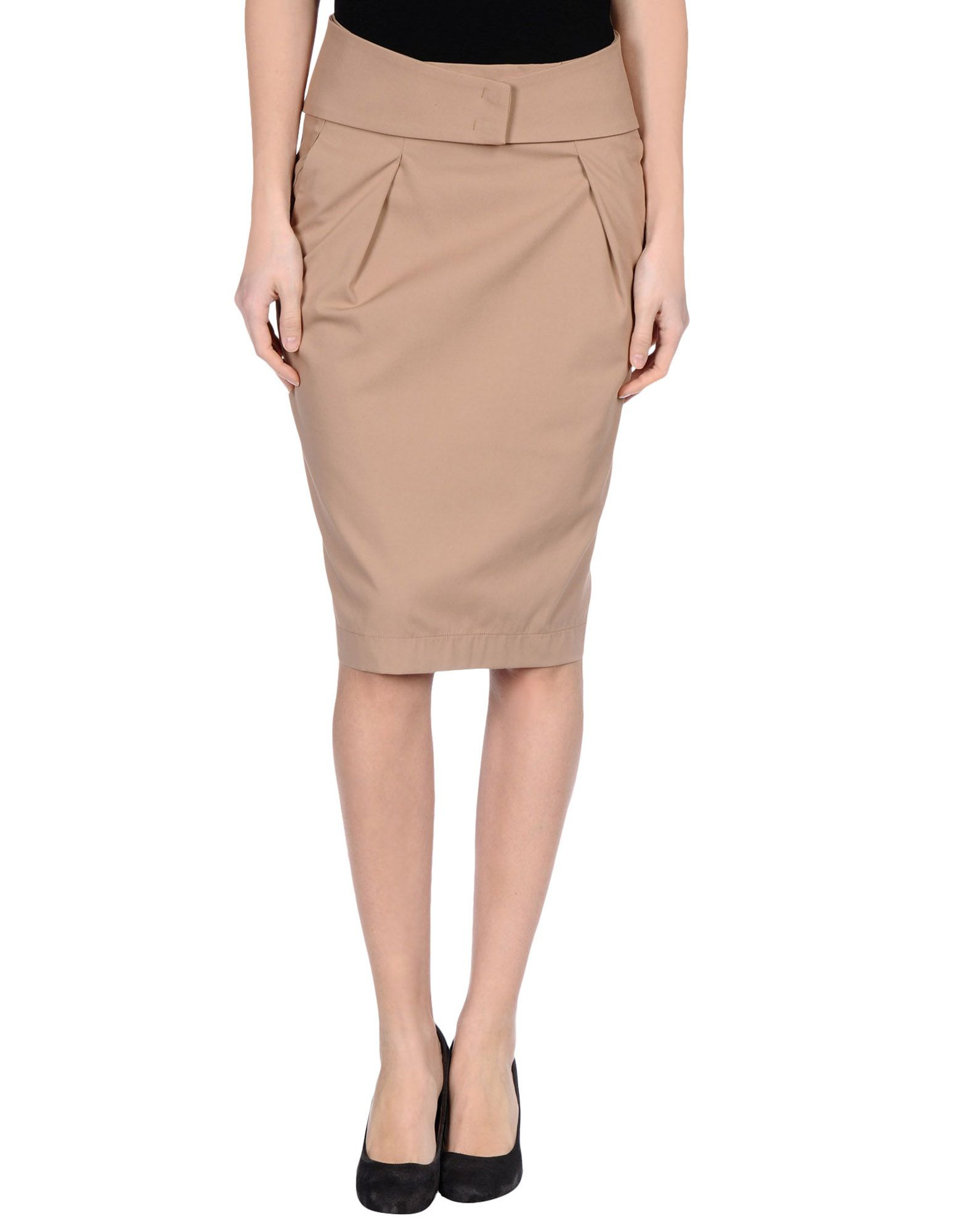 see by chlo 233 knee length skirt in khaki lyst