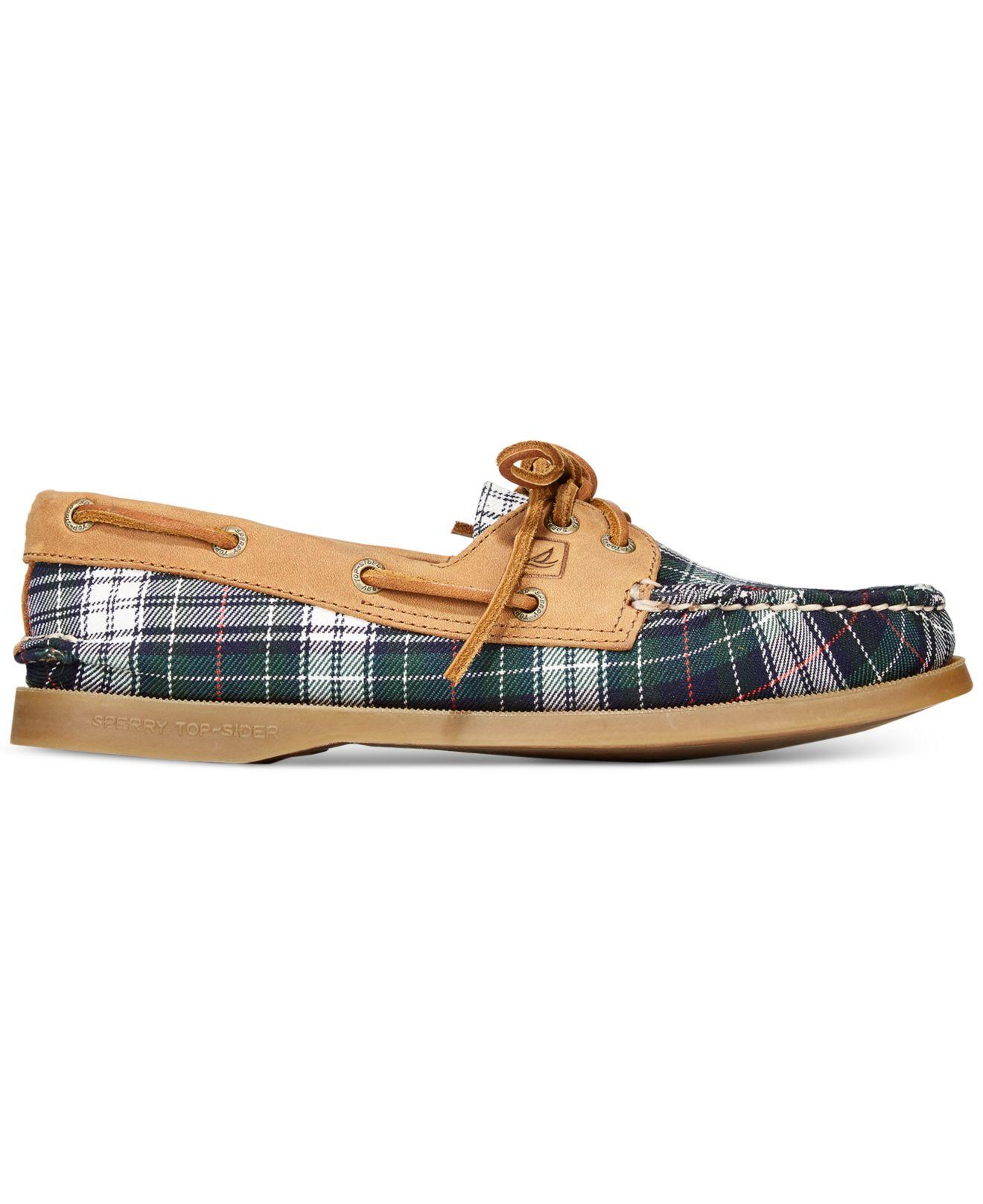 o Tartan Boat Shoes
