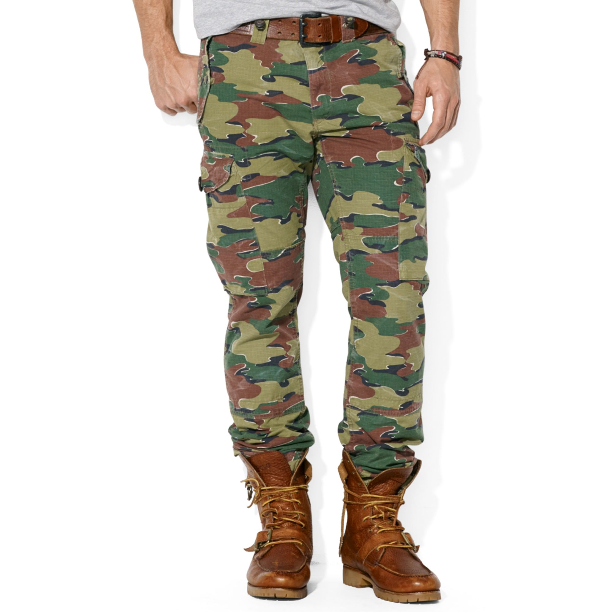 camouflage print trousers - Green Polo Ralph Lauren AXwLx