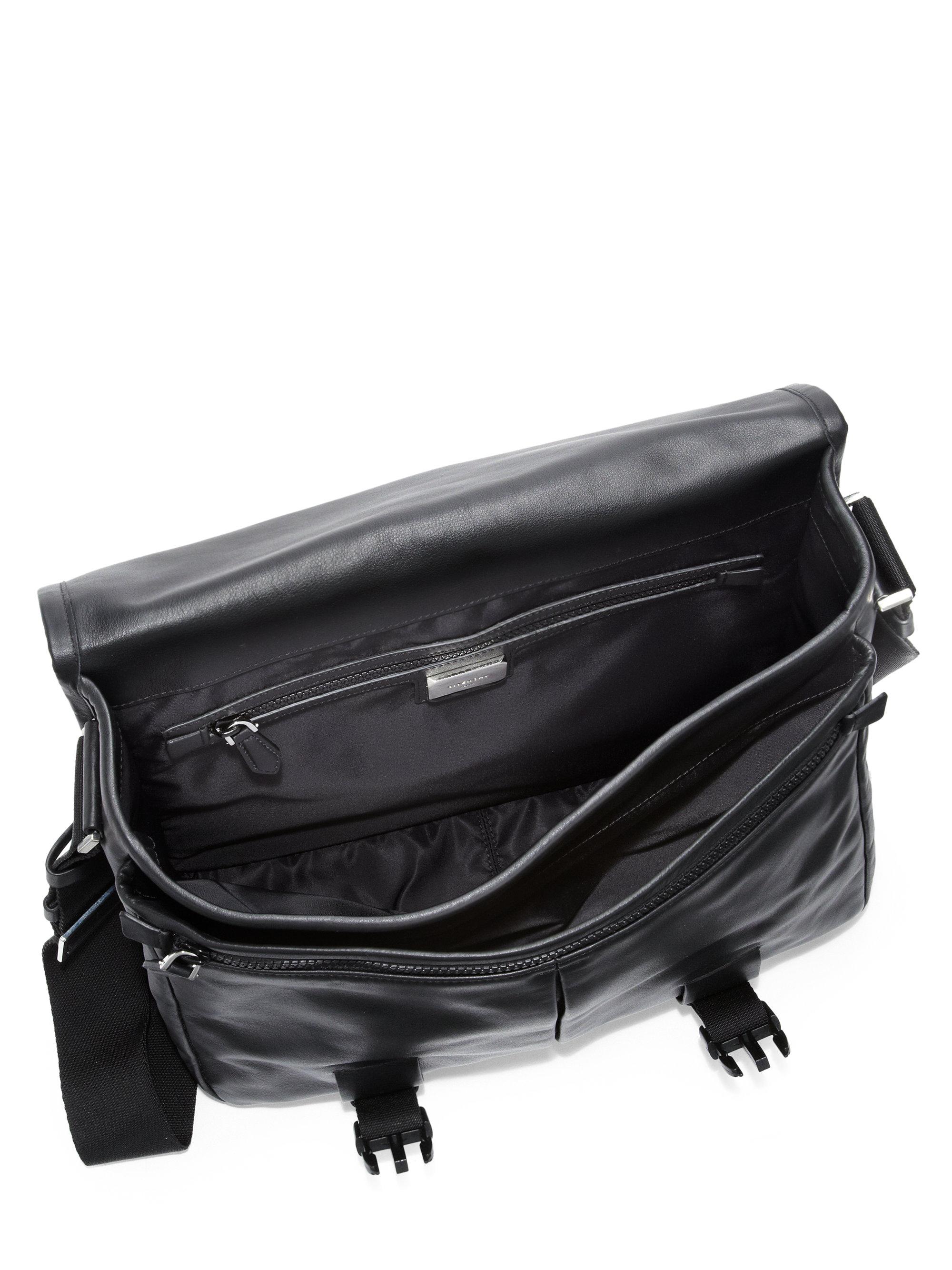 Lyst - Givenchy Obsedia Leather Messenger Bag in Black for Men 06757068c2e50