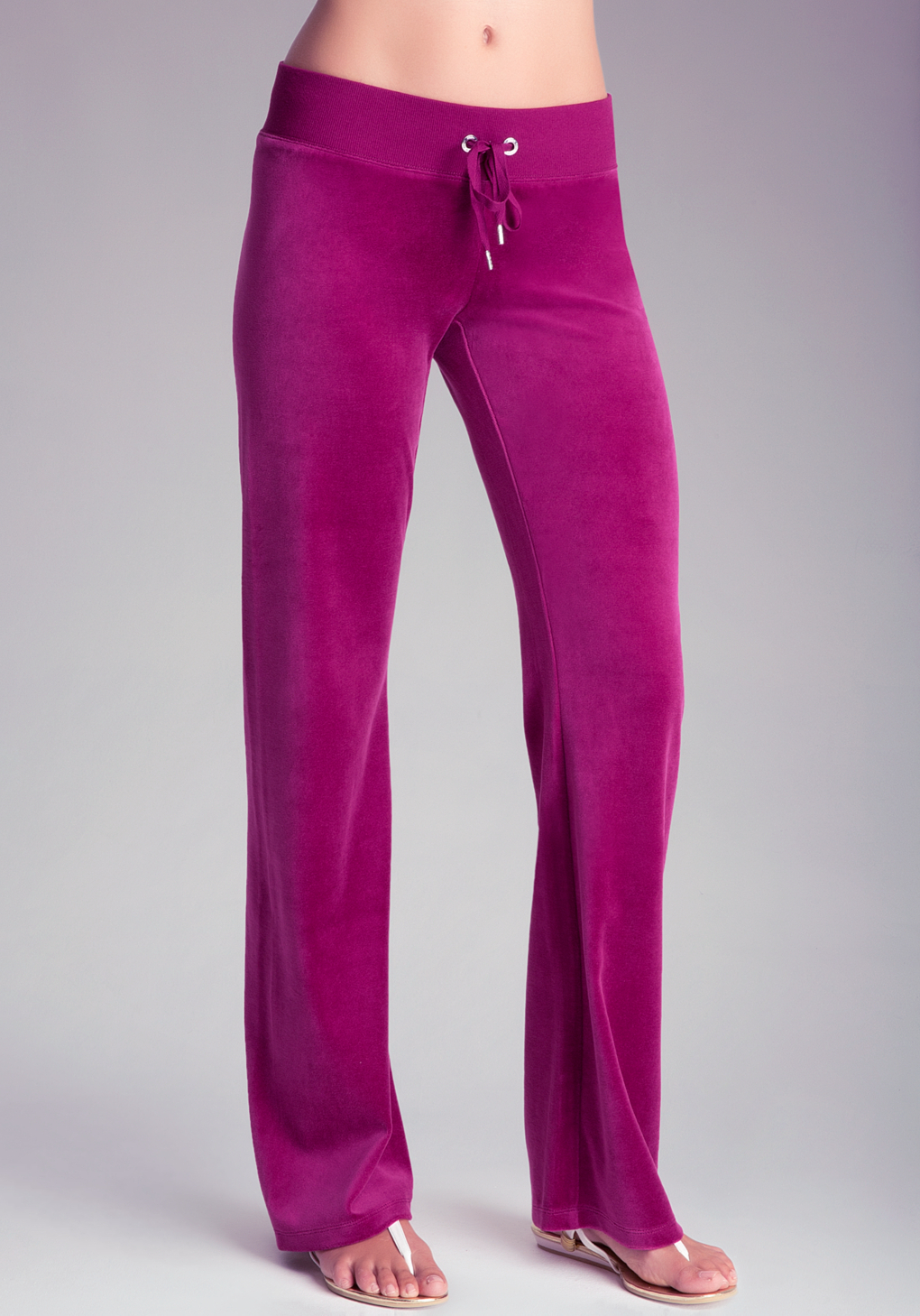 Bebe Velour Pants In Purple Lyst