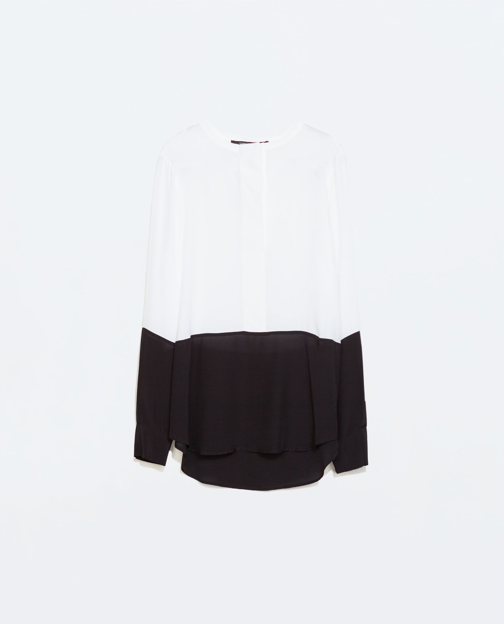 Zara White Long Sleeve Blouse 76