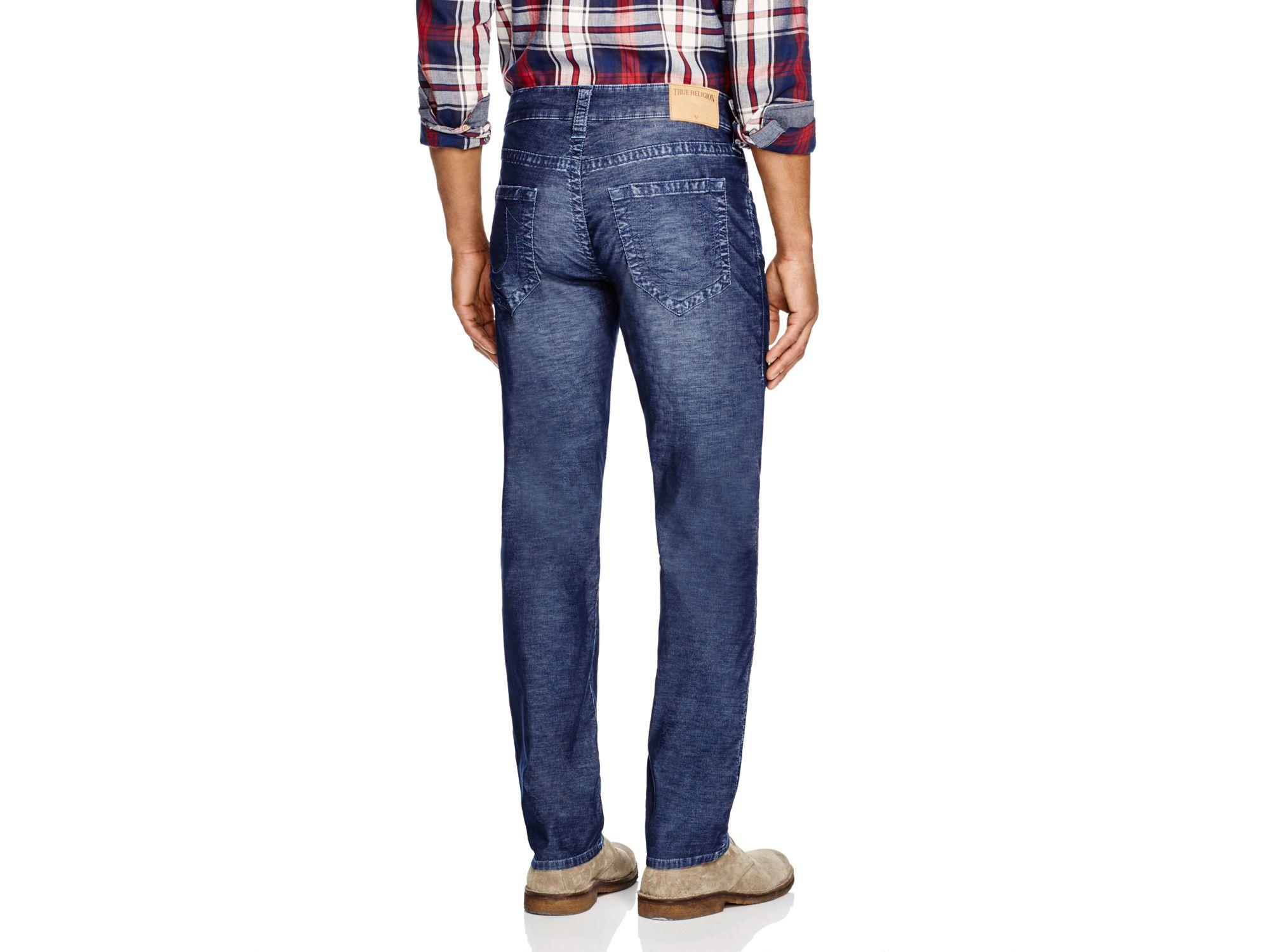 True Religion Denim Geno Straight Fit Jeans In Midnight Blue for Men