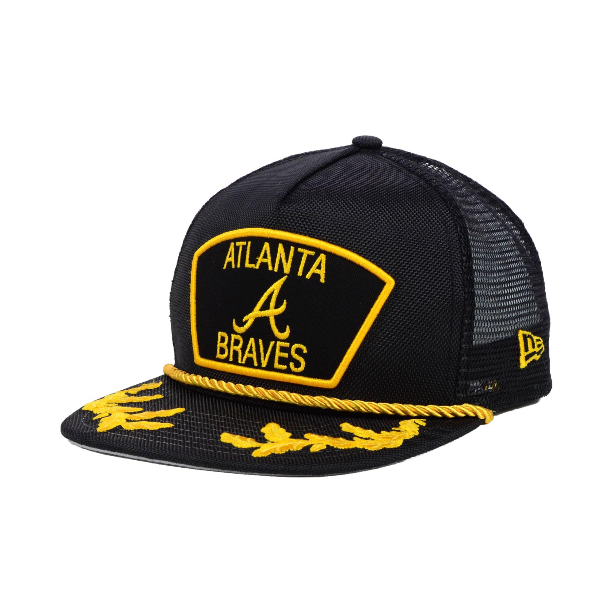 hot sale online a3464 8edc9 ... discount lyst ktz atlanta braves mlb 9fifty snapback cap in black for  men 3d113 27b23 ...