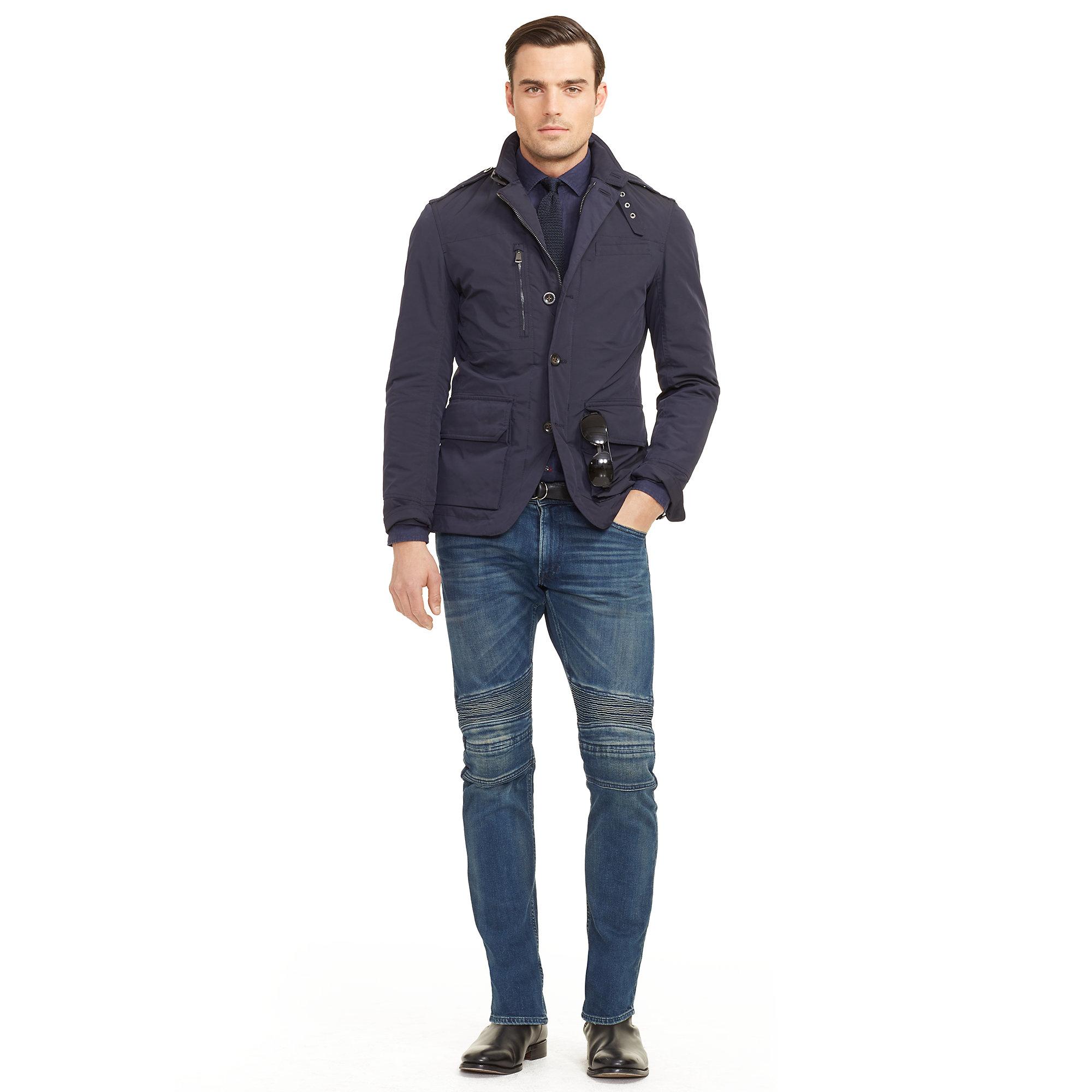 Ralph lauren black label Modern Military Sport Coat in Blue for ...
