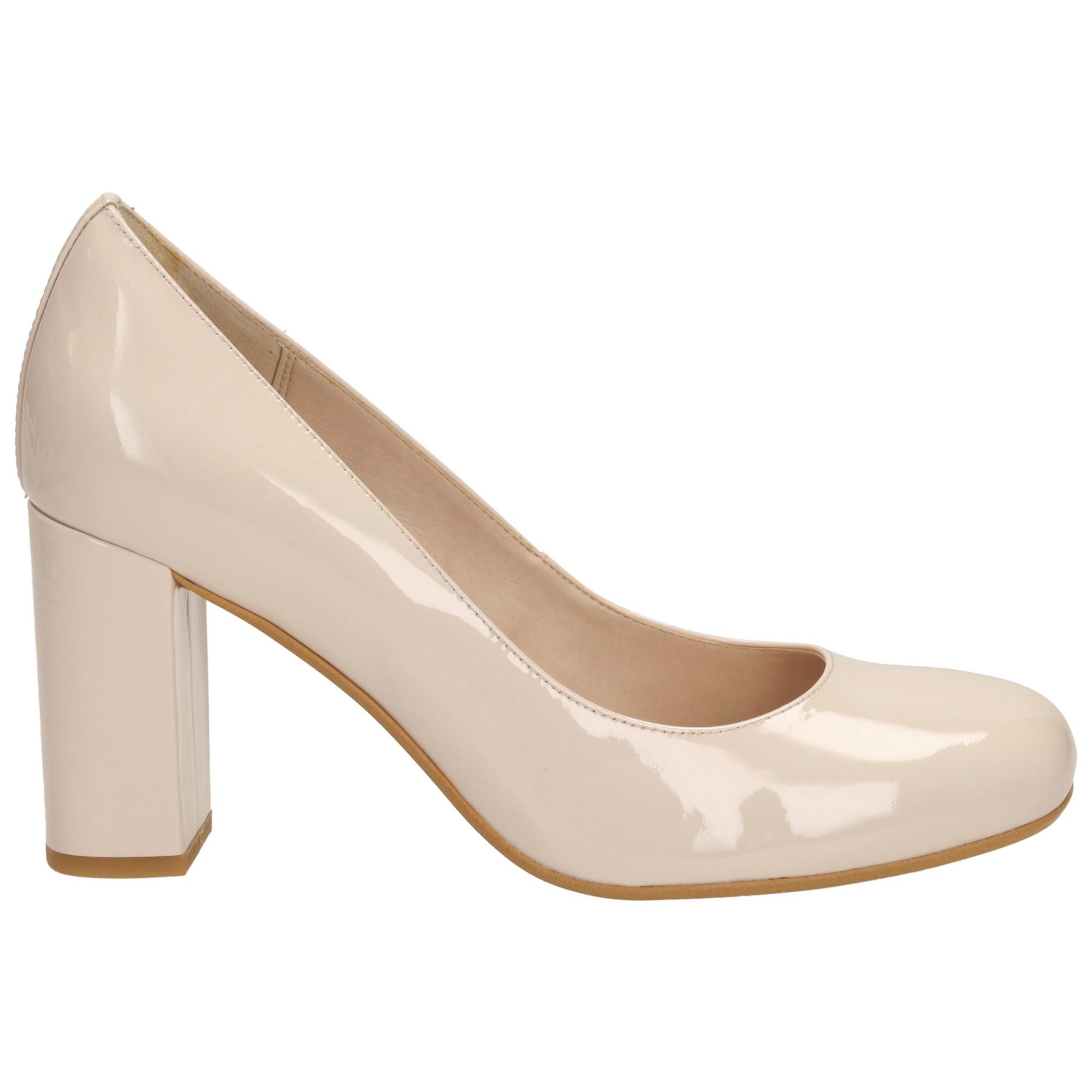 95d0bce6 Clarks Natural Gabriel Mist Block Heel Court Shoes