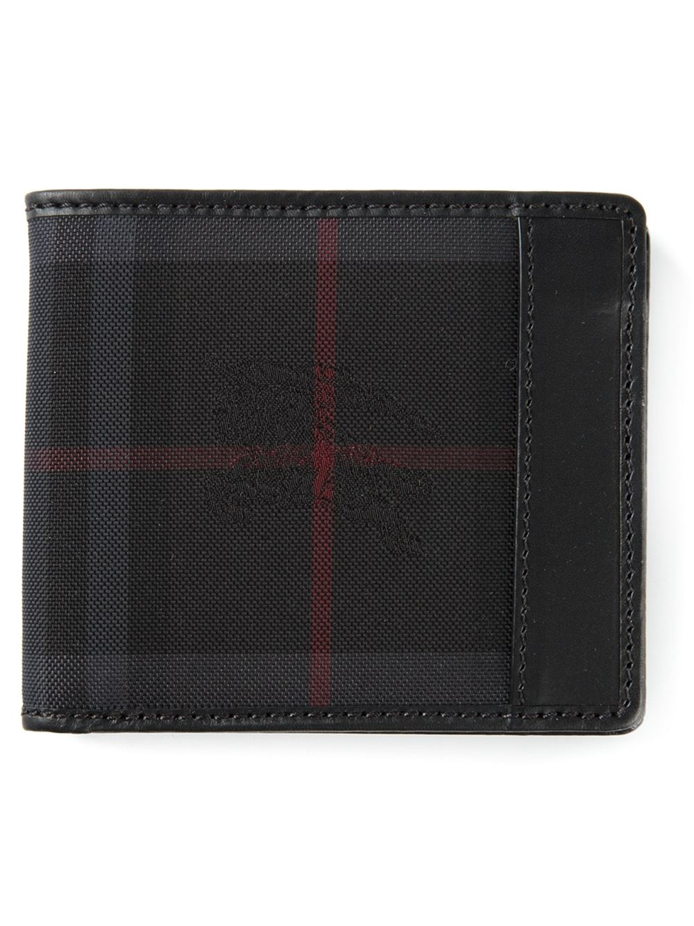 Burberry Horseferry Check Wallet in Black for Men