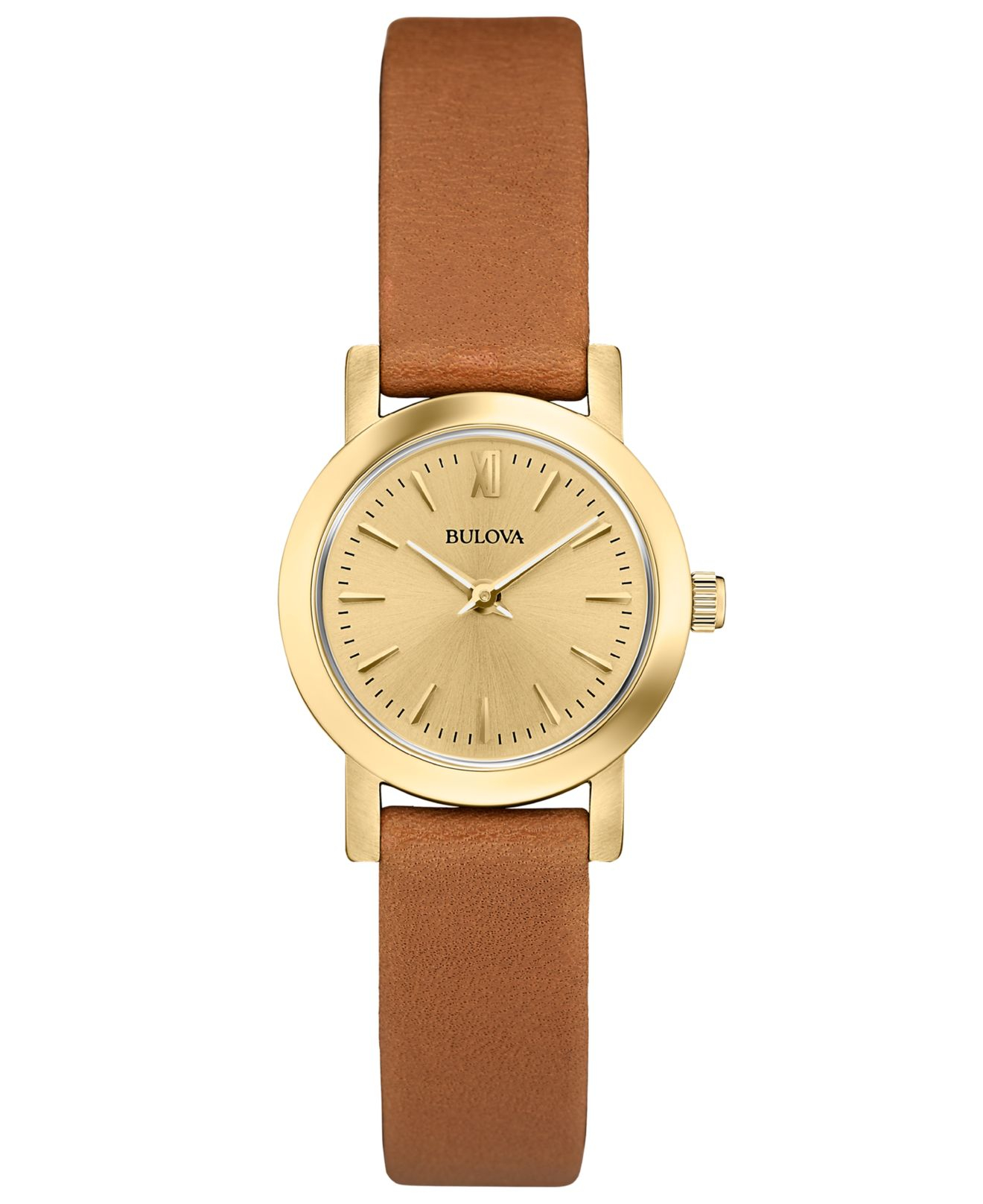 bulova s saddle leather 24mm 97l135 in