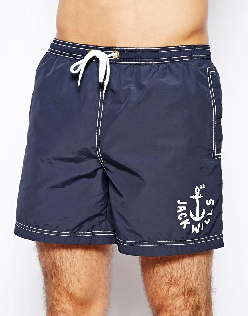 2978c38952 Jack Wills Branwells Swim Shorts Navy in Blue for Men - Lyst