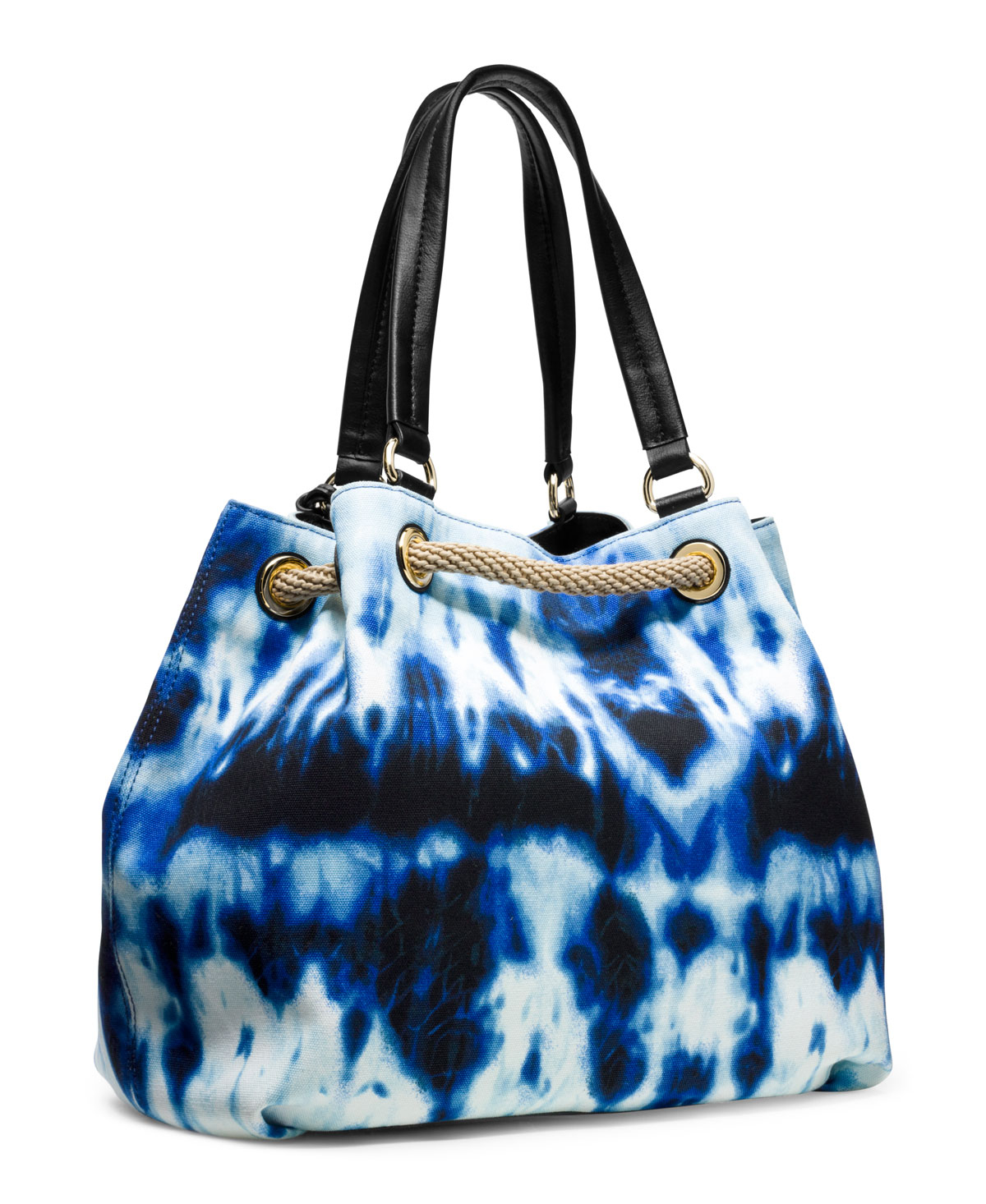 Tie Dye Gathered Tote Lyst Michael Kors Large Marina In Bl