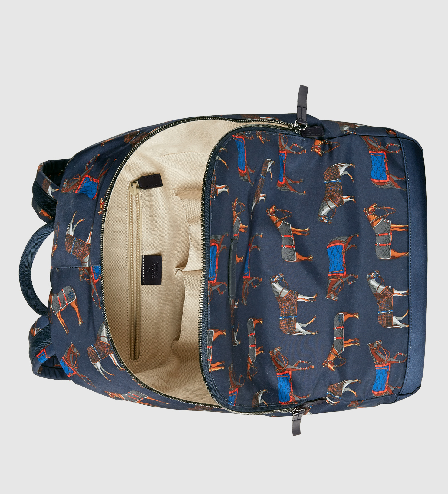 Gucci Horse Print Backpack in Blue for Men - Lyst 0bee85a025