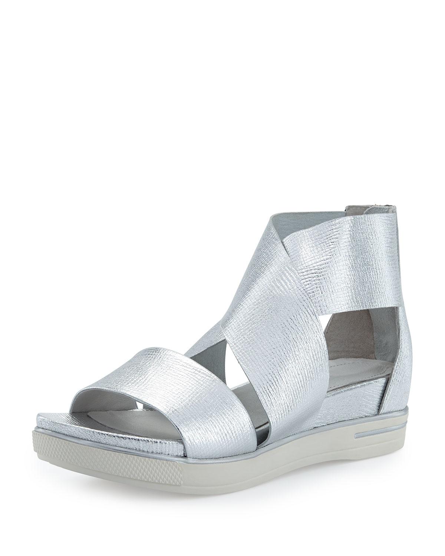 Lyst Eileen Fisher Sport Flatform Sneaker Sandal In Metallic