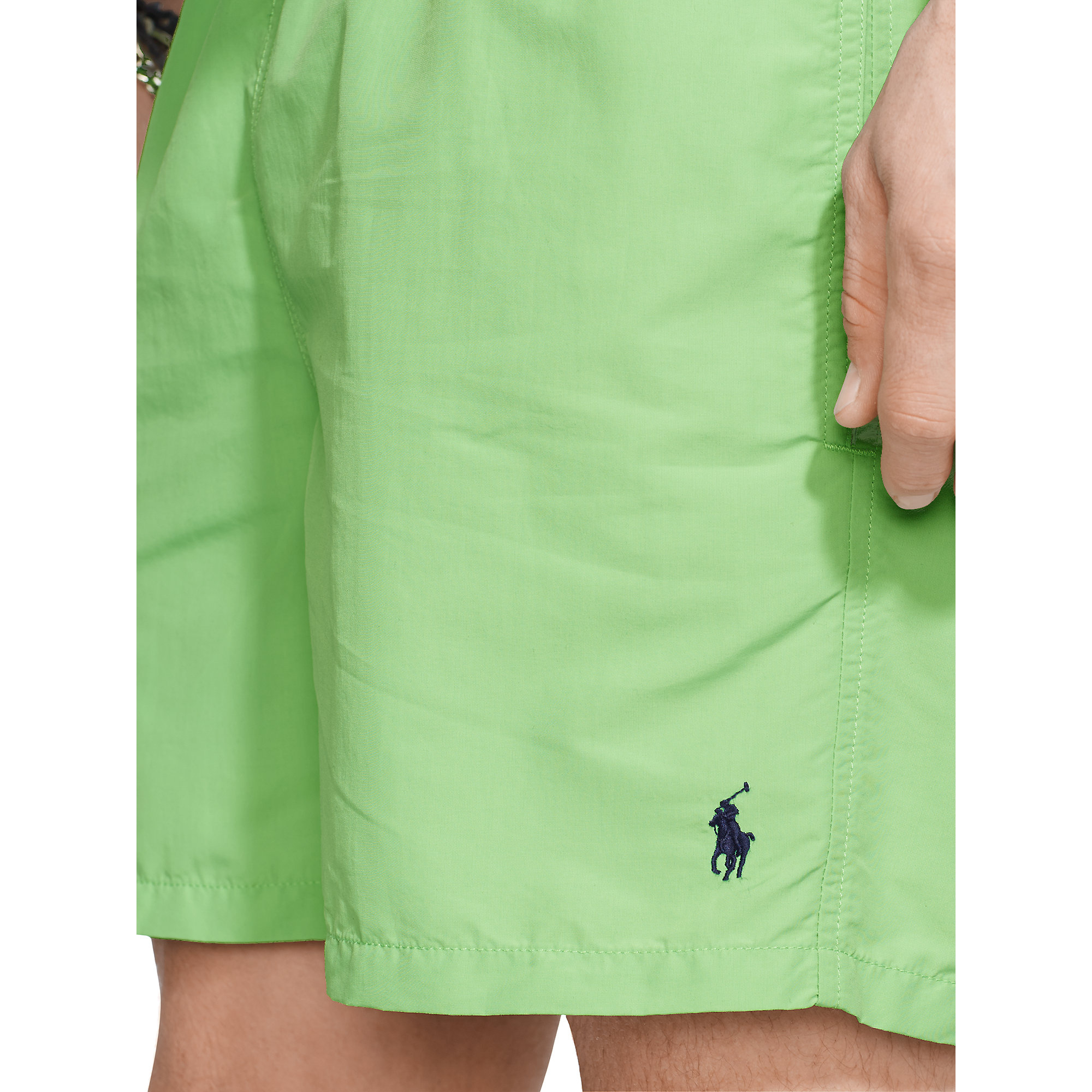 cfda1db66 ... switzerland lyst polo ralph lauren 6 solid hawaiian swim trunk in green  for men fc27c 03484