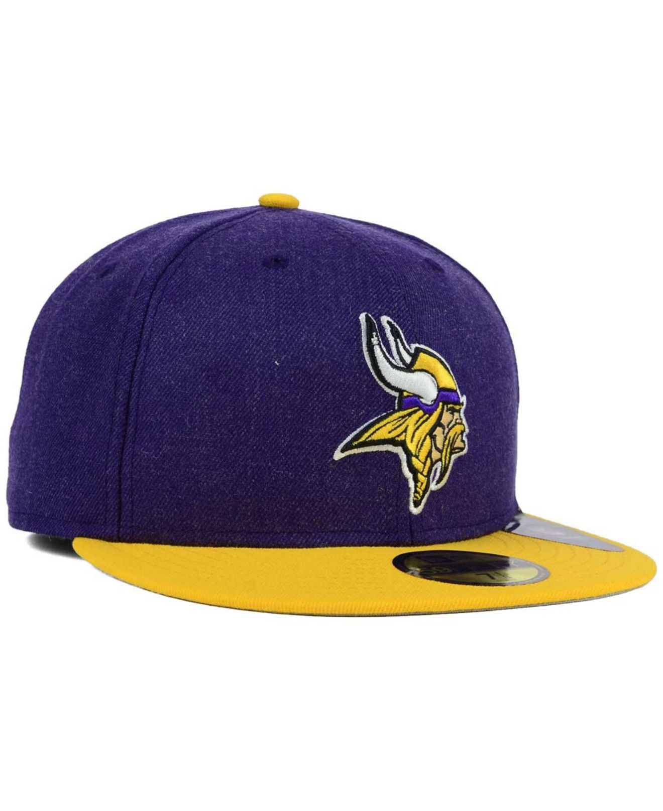 Ktz Minnesota Vikings Heather Action 2-tone 59fifty Cap in Purple ...
