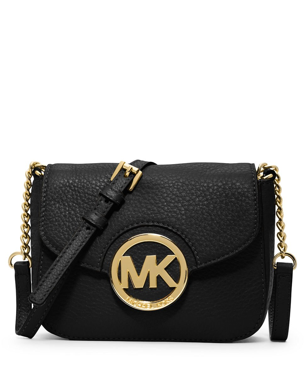 Michael Michael Kors Fulton Leather Small Crossbody Bag In