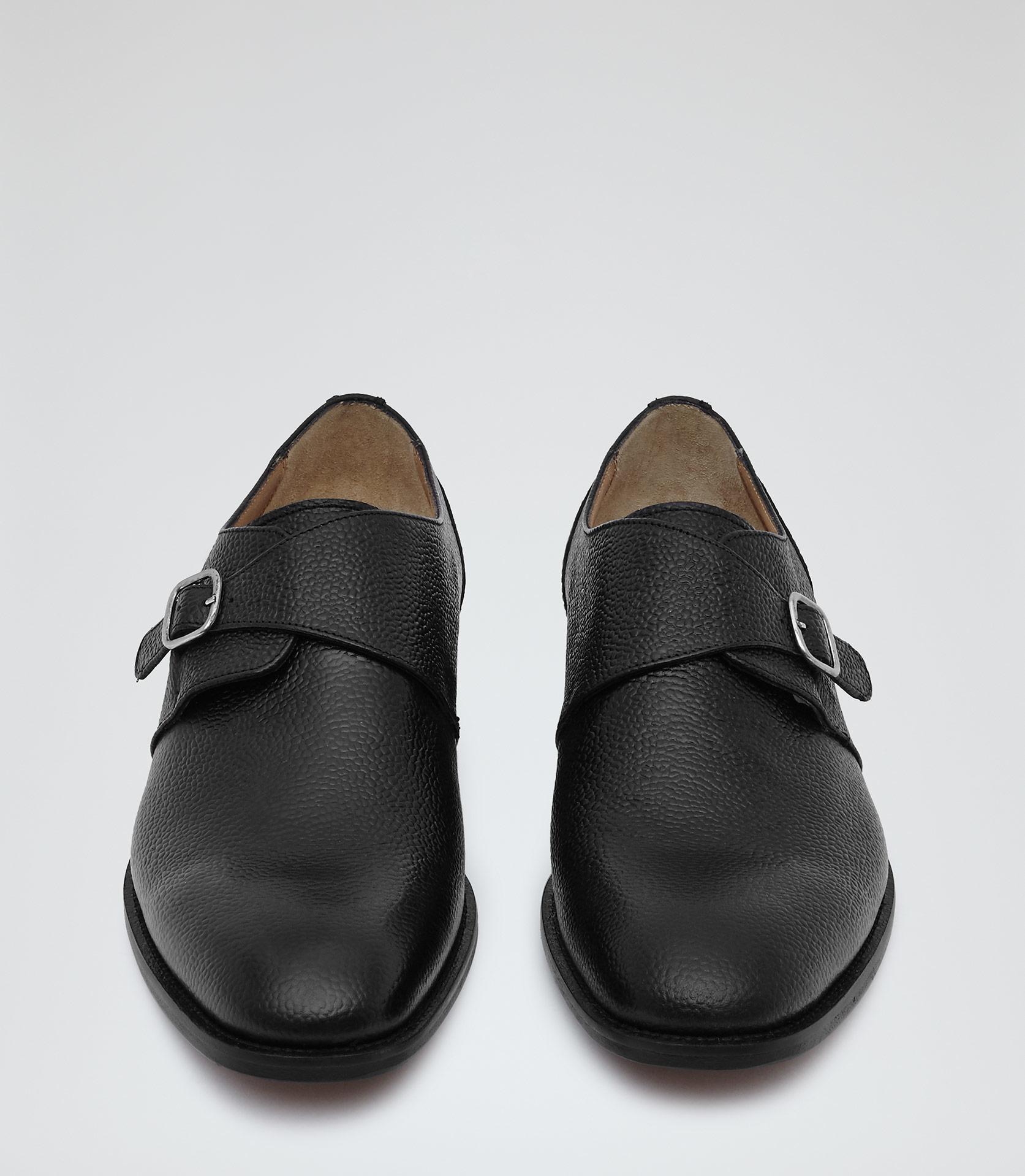 Reiss Paul Monk Strap Shoes In Black For Men Lyst