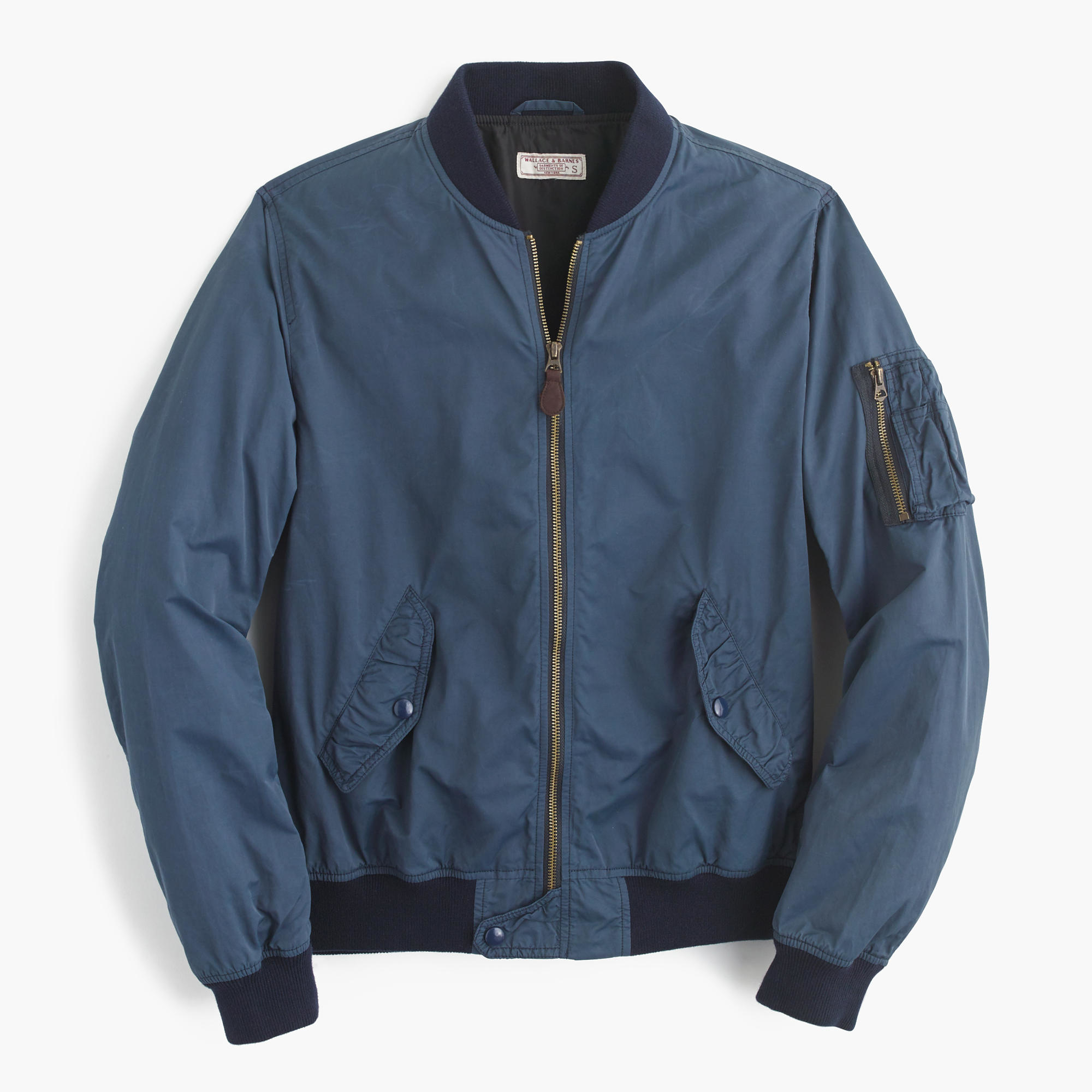 J Crew Synthetic Wallace Amp Barnes Ma 1 Bomber Jacket In