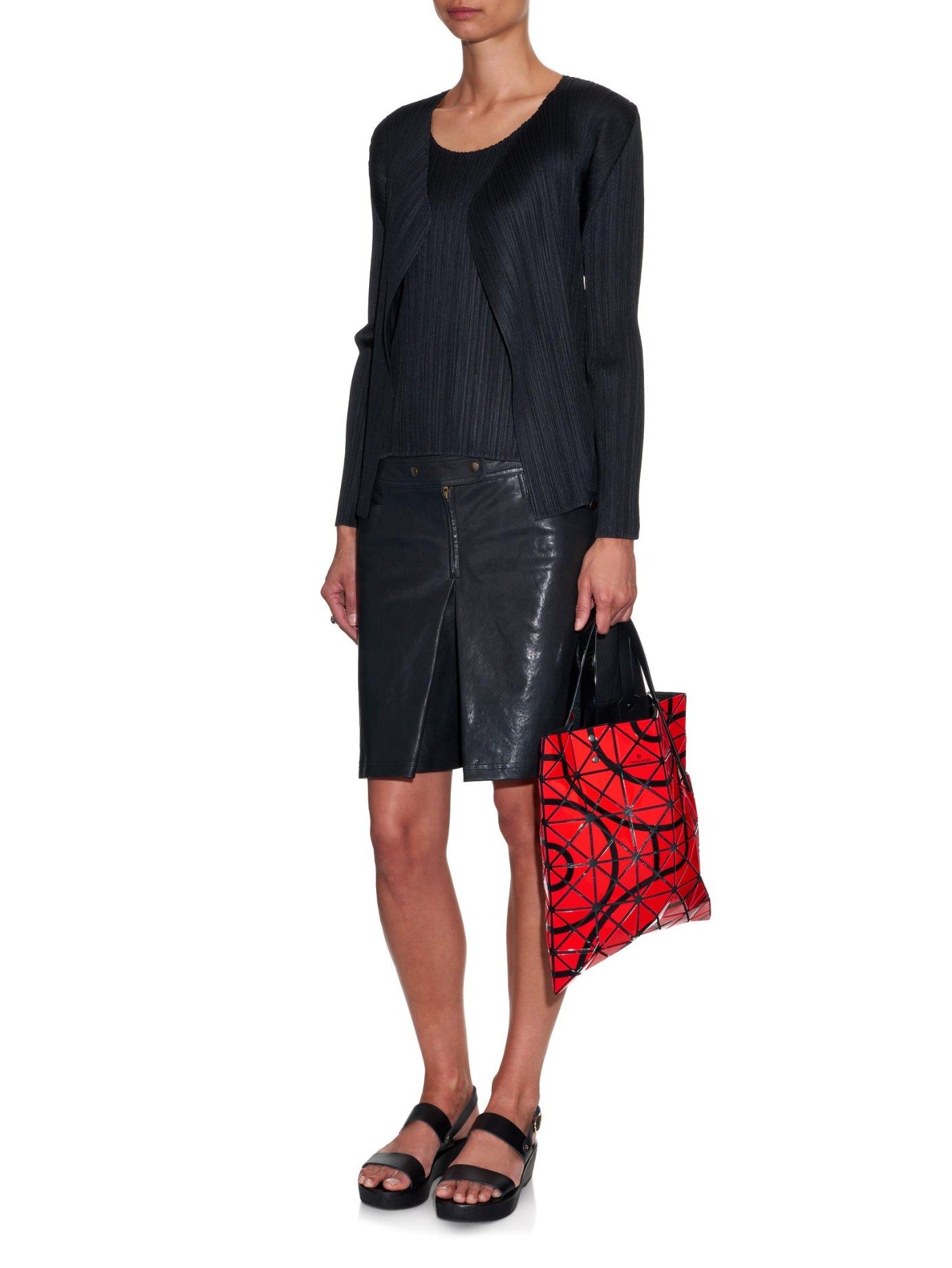 Bao Bao Issey Miyake Tokolo-pattern Lucent Tote in Red Print (Red)