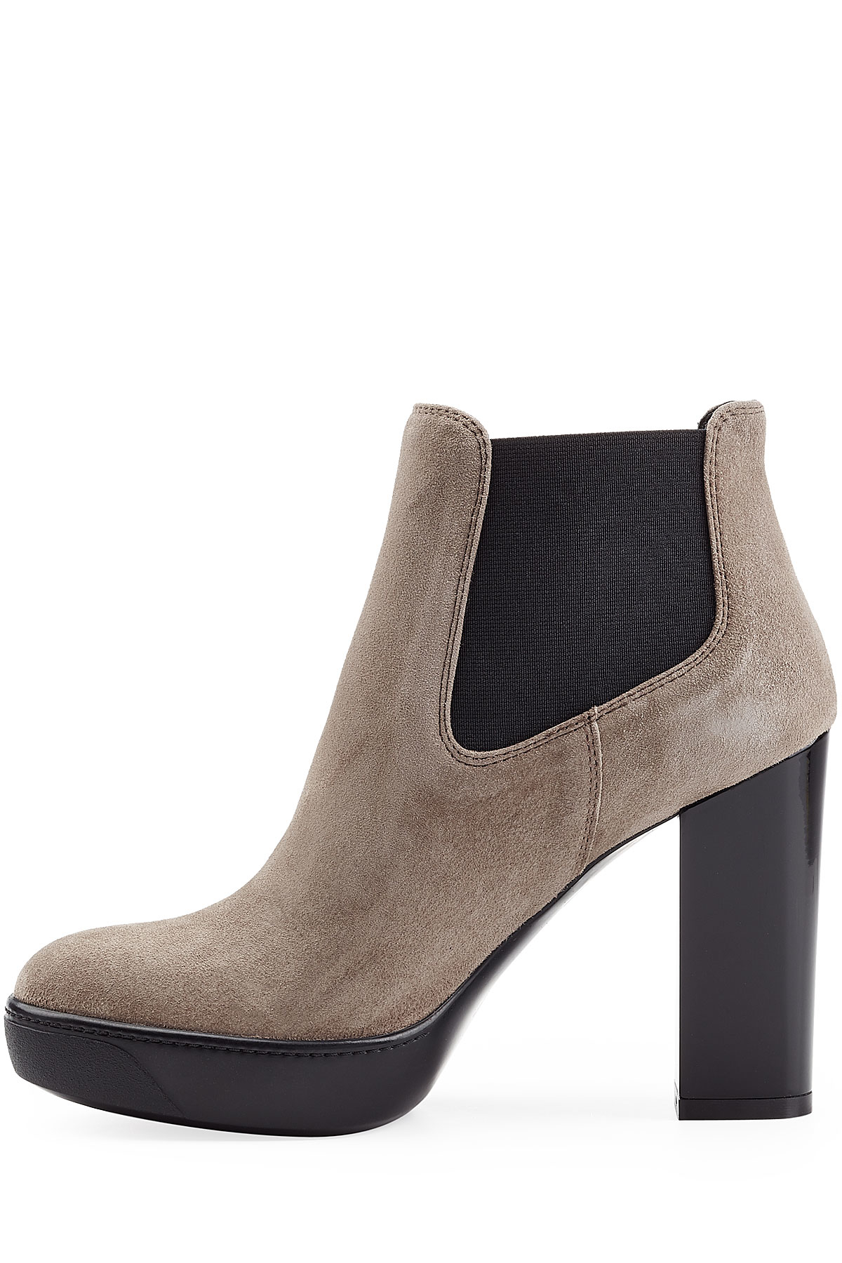 suede platform ankle boots grey in gray lyst