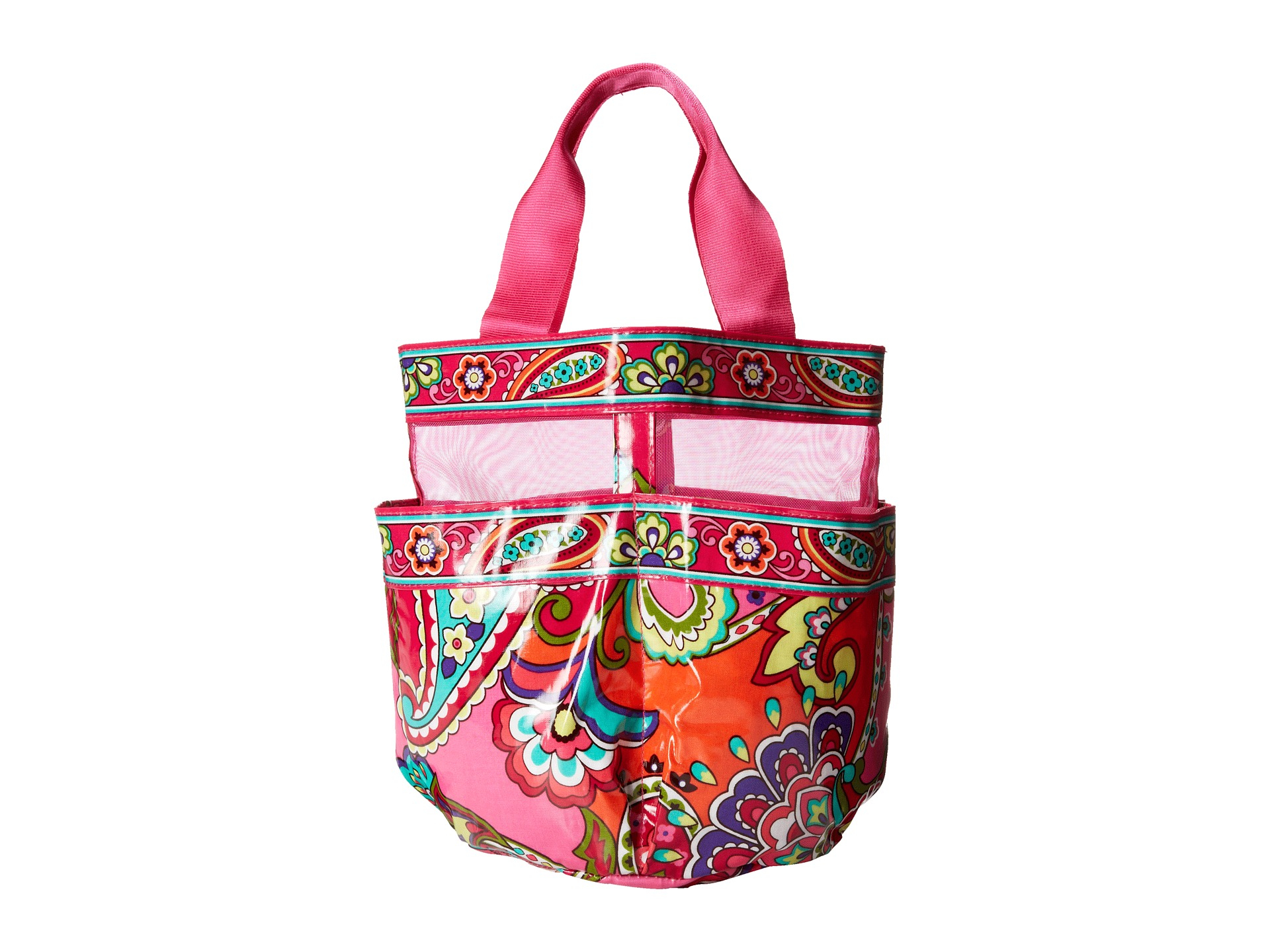 Vera bradley shower caddy in pink pink swirls lyst for Vera bradley bathroom bag