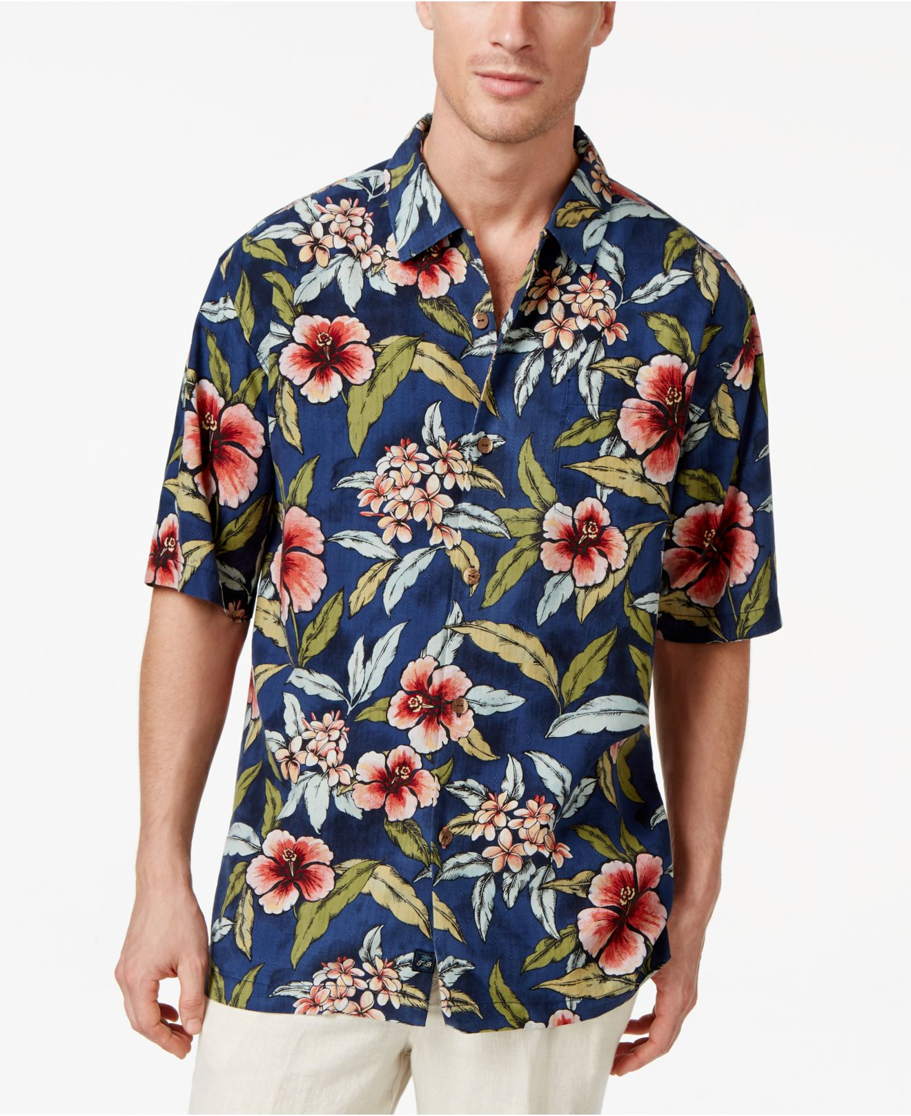 Lyst Tommy Bahama Garden Of Hope And Courage Silk Shirt