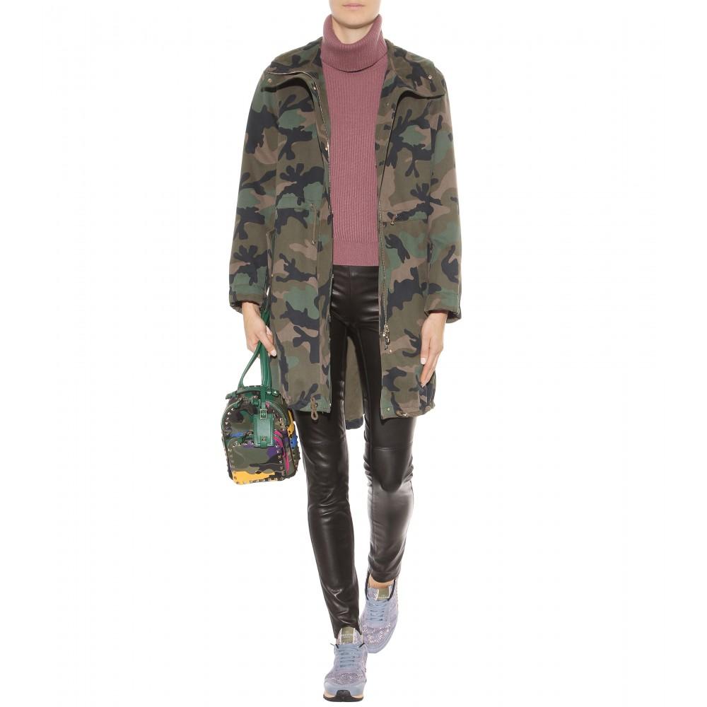 6e63e39c643e8 Valentino Camouflage-printed Cotton Parka in Green - Lyst