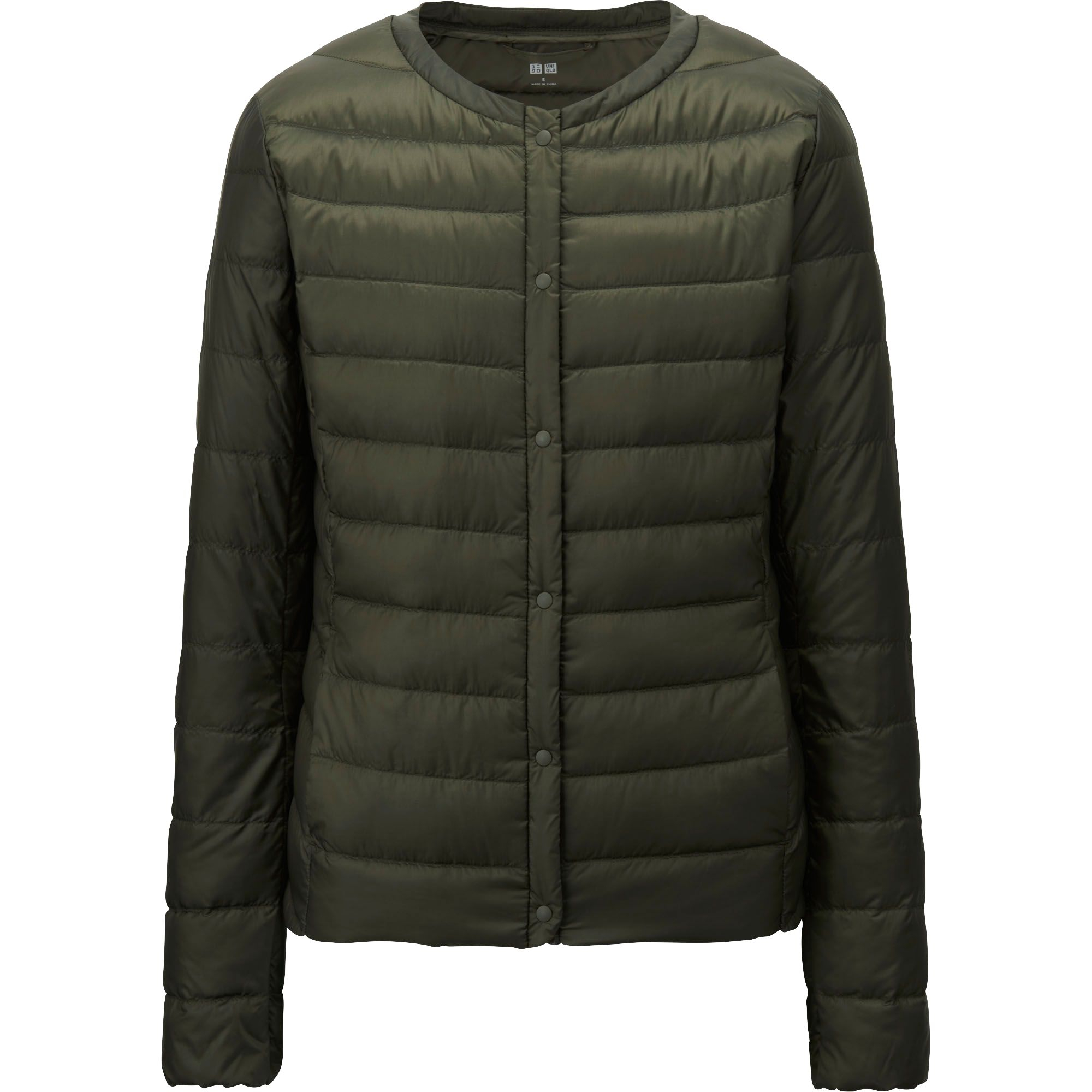 uniqlo women ultra light down compact jacket in green dark green. Black Bedroom Furniture Sets. Home Design Ideas
