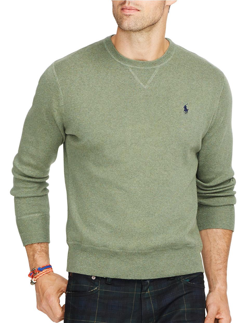 polo ralph lauren crewneck sweatshirt in green for men. Black Bedroom Furniture Sets. Home Design Ideas