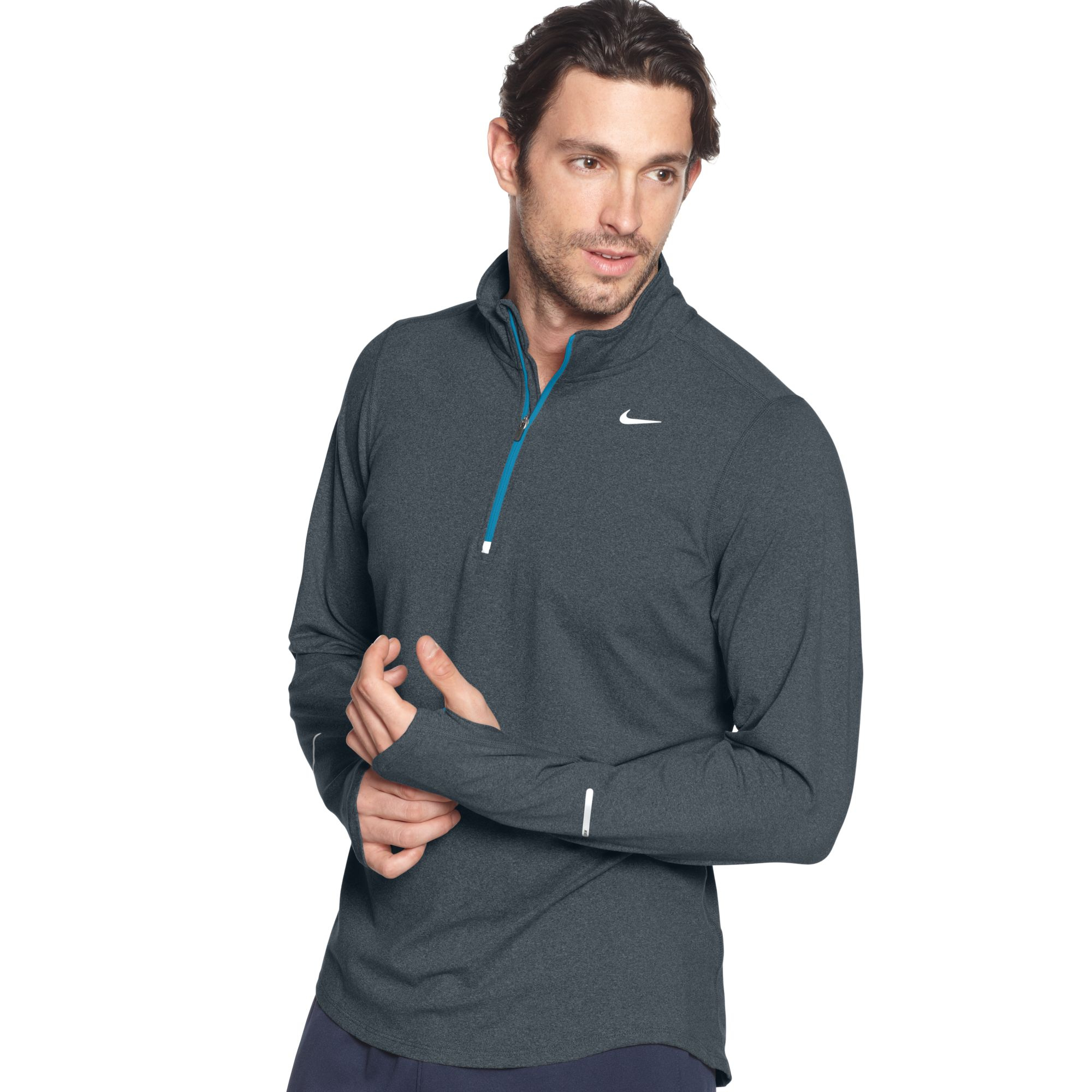 Nike Pullover Element Half Zip Shirt in Gray for Men | Lyst