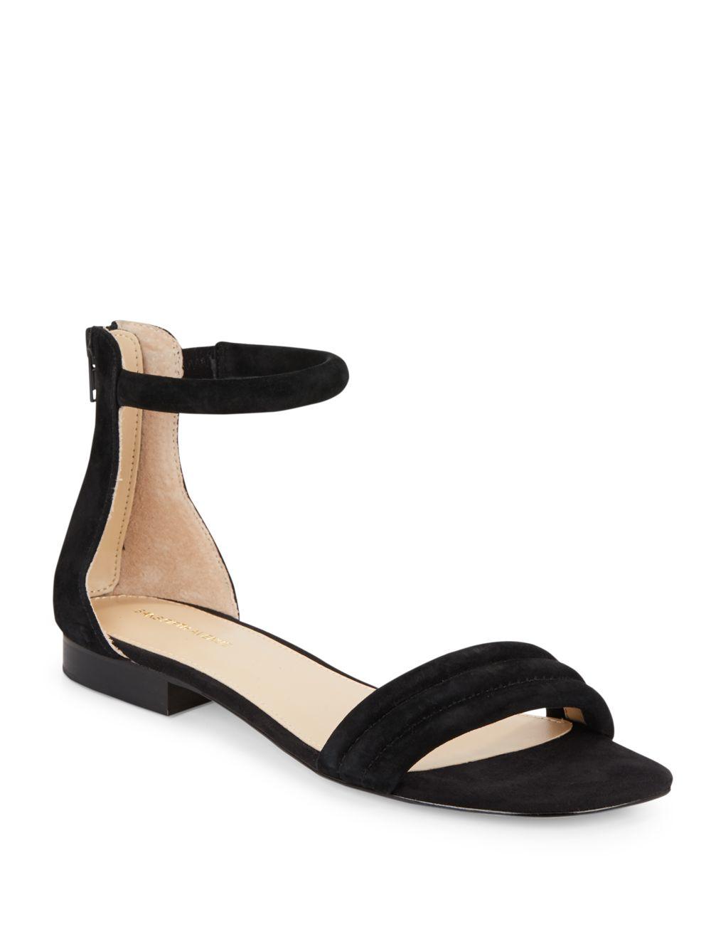 990fefd16e30 Lyst - Saks Fifth Avenue Celine Suede Ankle Strap Sandals in Black
