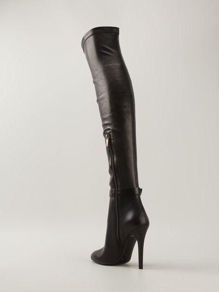 jimmy choo tamba thigh high boot in black lyst
