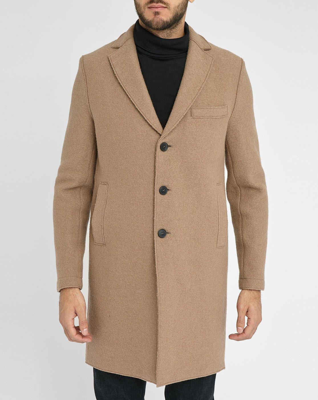 Unlined Wool Coat - Coat Nj