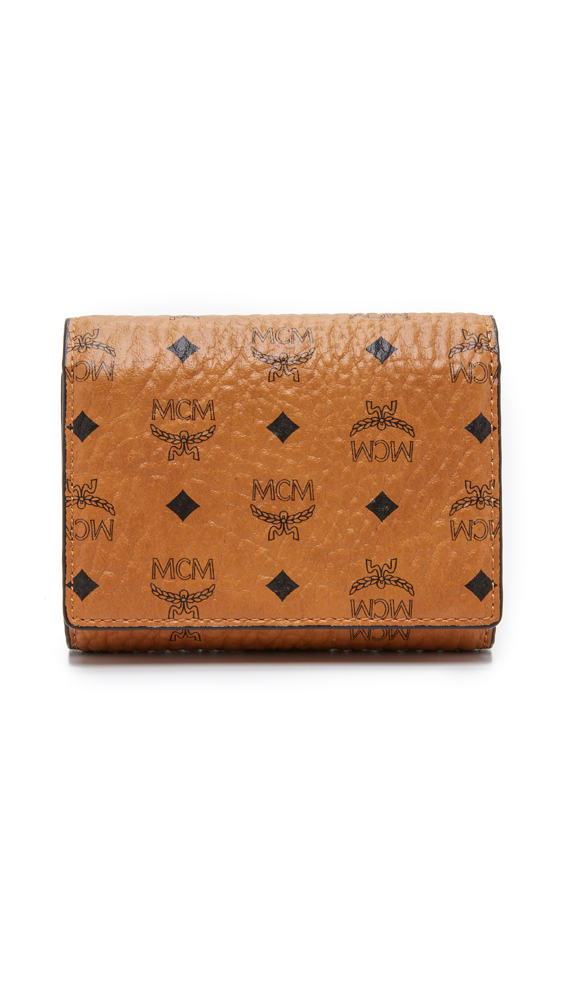 Mcm Small Trifold Wallet Cognac In Brown Lyst