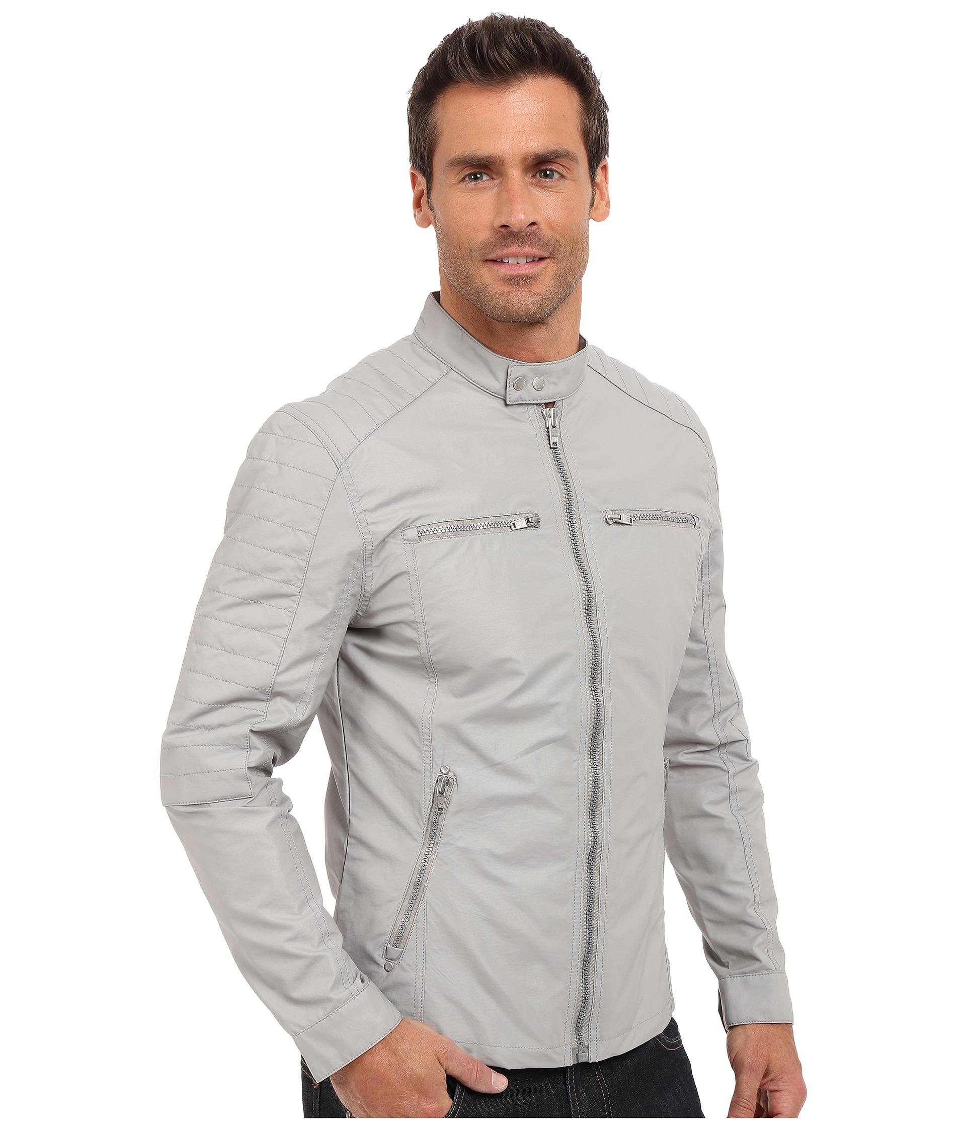 Lyst Calvin Klein Jeans Moto Jacket In Gray For Men