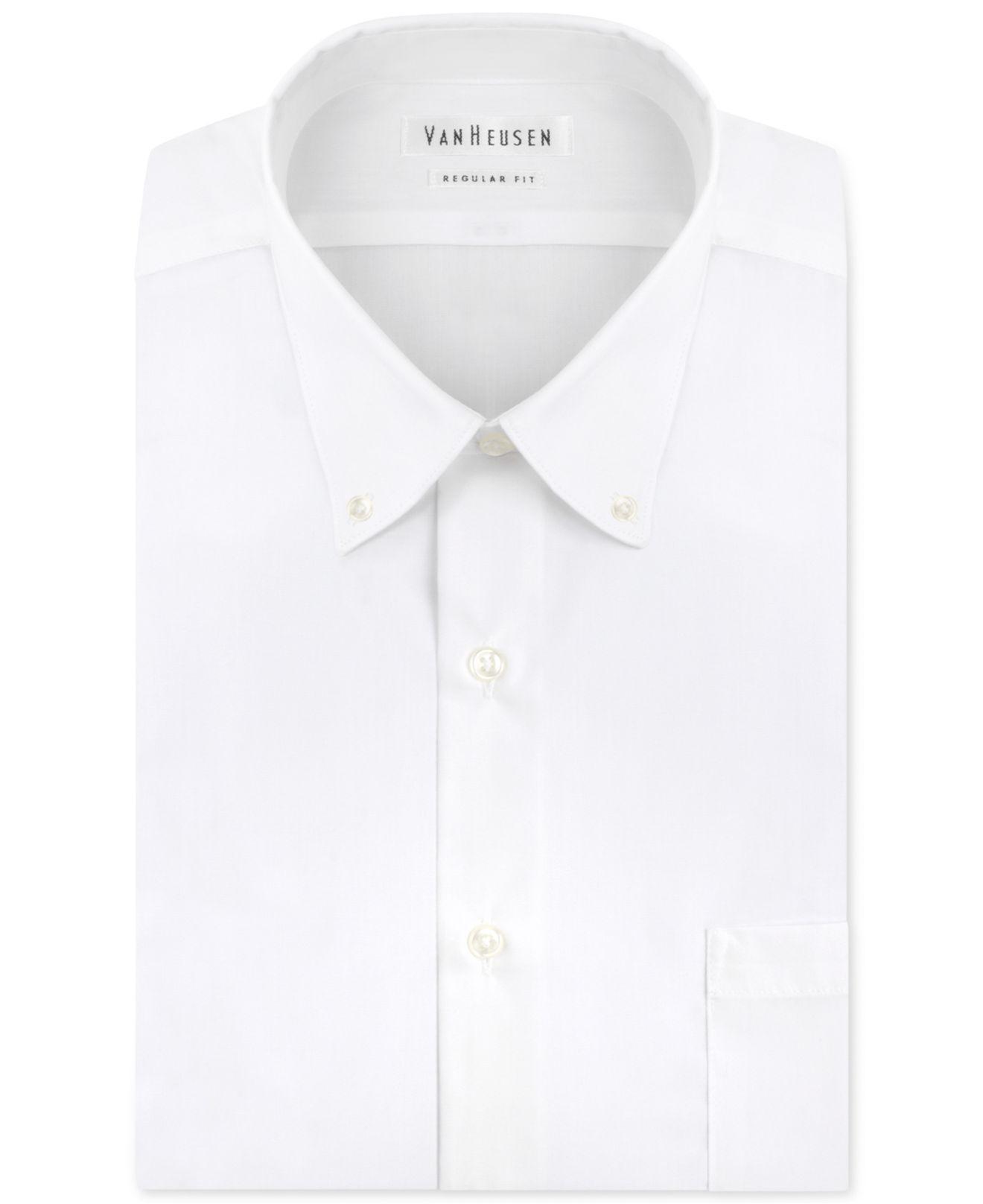 Van heusen men 39 s classic fit non iron poplin dress shirt for Van heusen non iron shirts