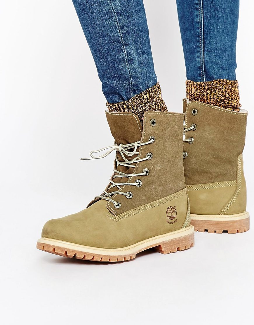 famous brand details for promo code Authentics Teddy Fleece Lace Up Flat Boots