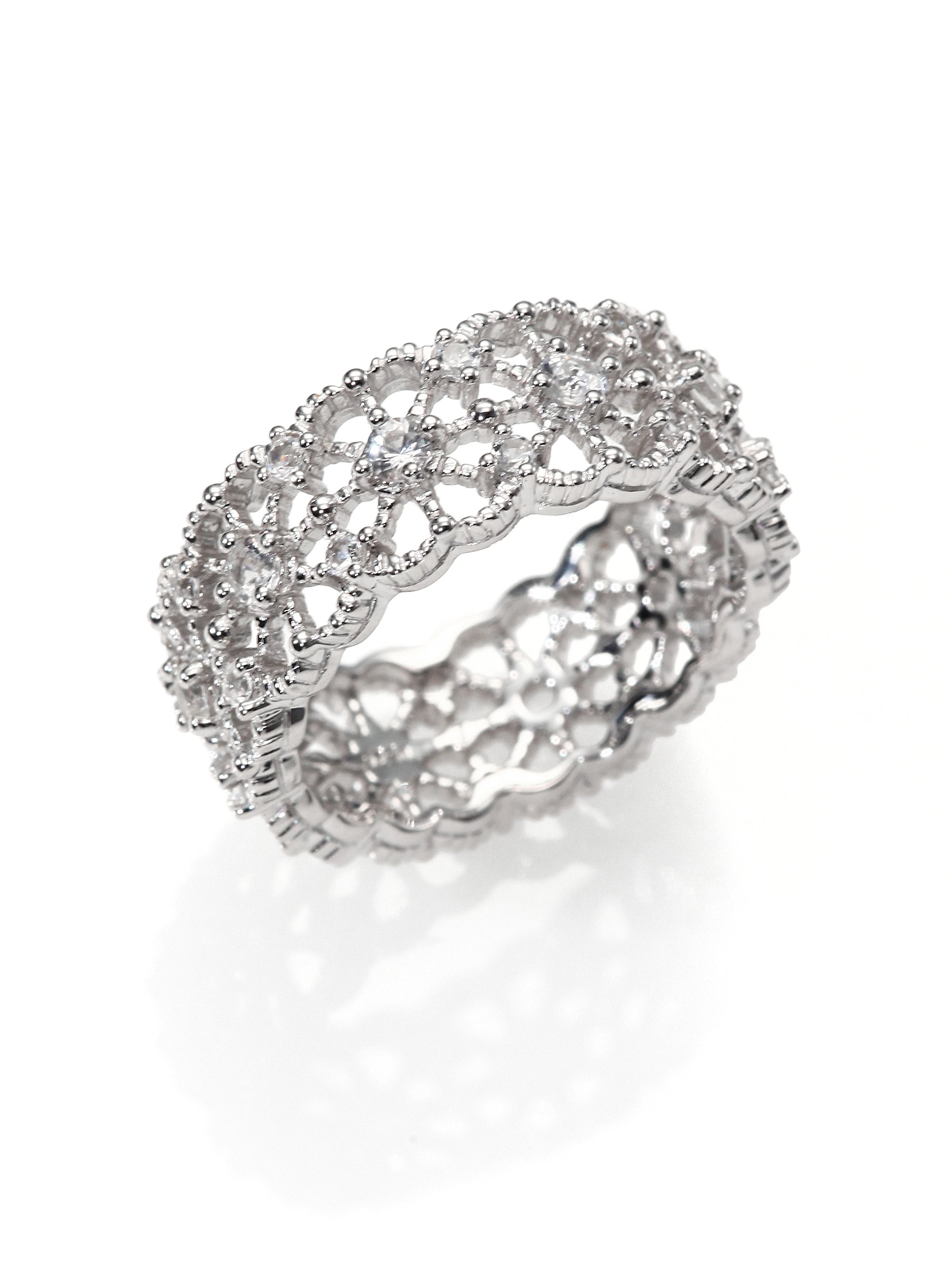 Lyst Judith Ripka White Sapphire Sterling Silver Lace