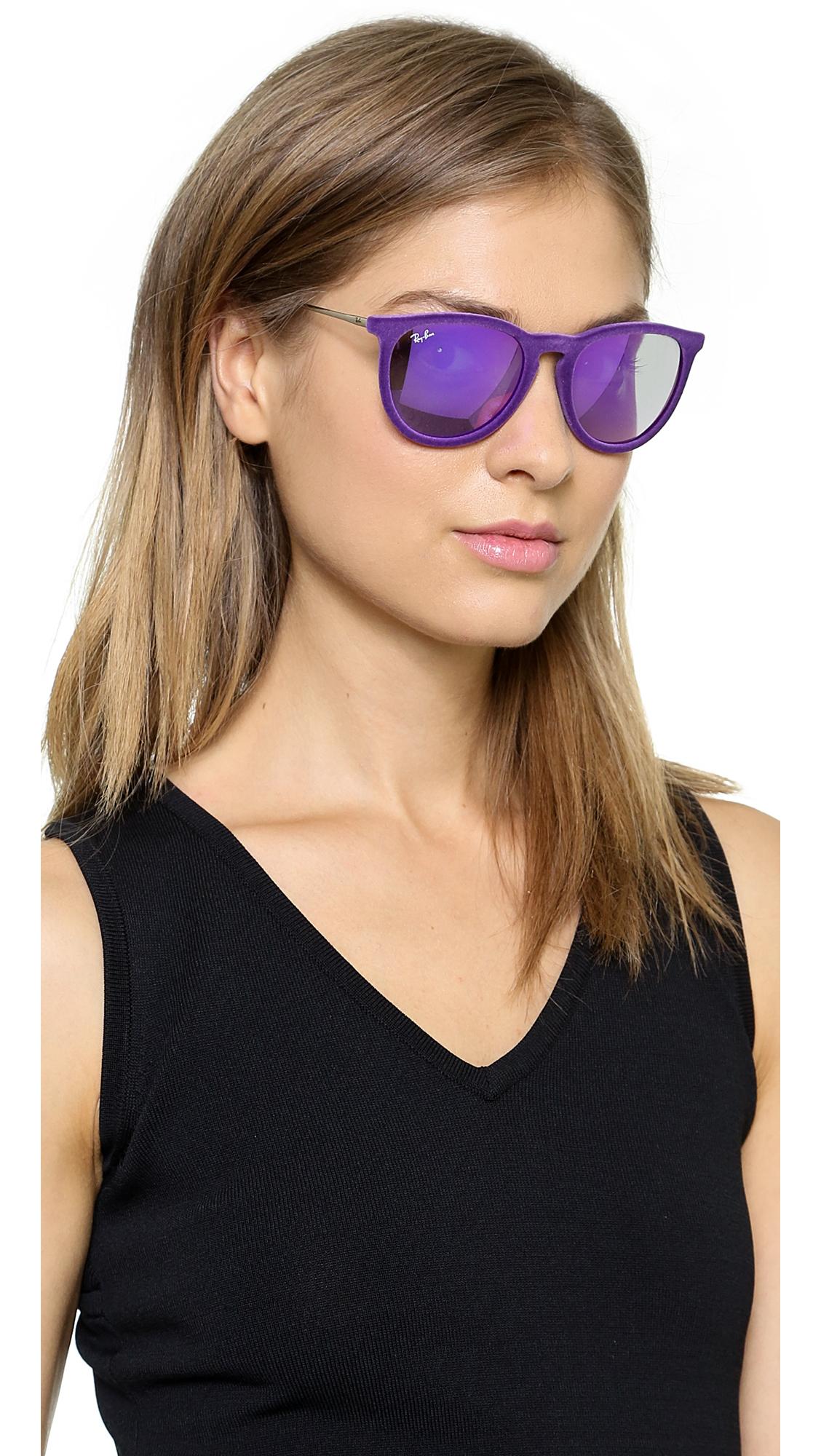 0d0ef53f7b Lyst - Ray-Ban Erika Velvet Sunglasses - Violet in Purple