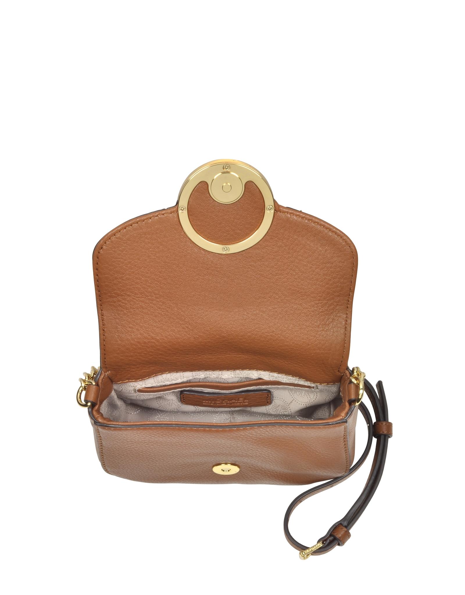 523948bf32fb57 Michael Kors Fulton Luggage Leather Small Crossbody Bag in Metallic - Lyst