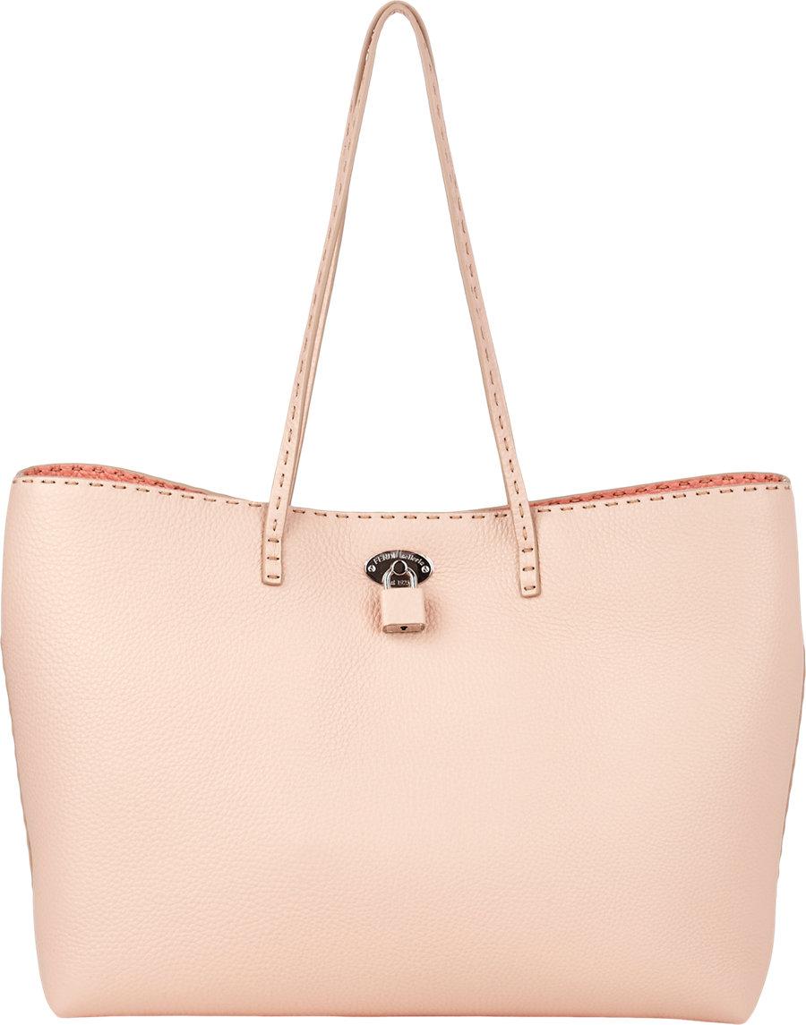... italy fendi carla selleria tote bag in pink lyst 9308e dd047 ef70359421540