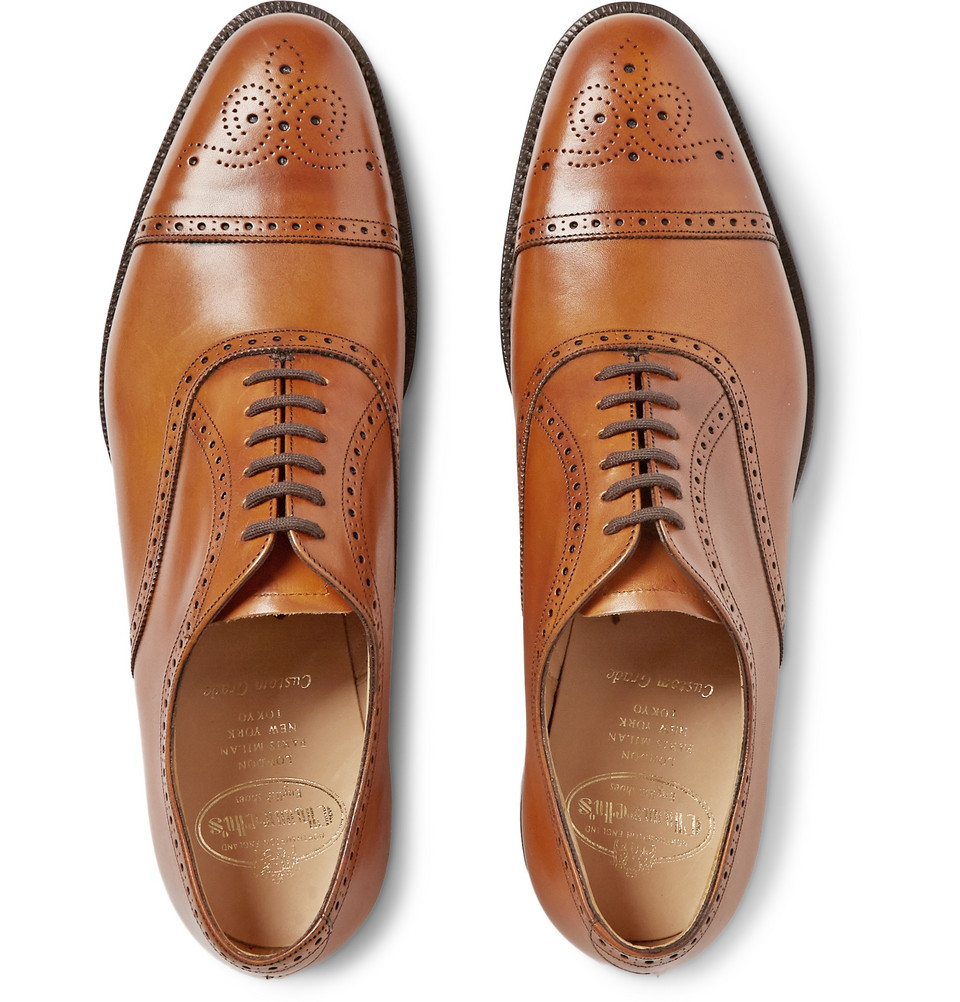 Toronto Cap-Toe Leather Oxford Brogues