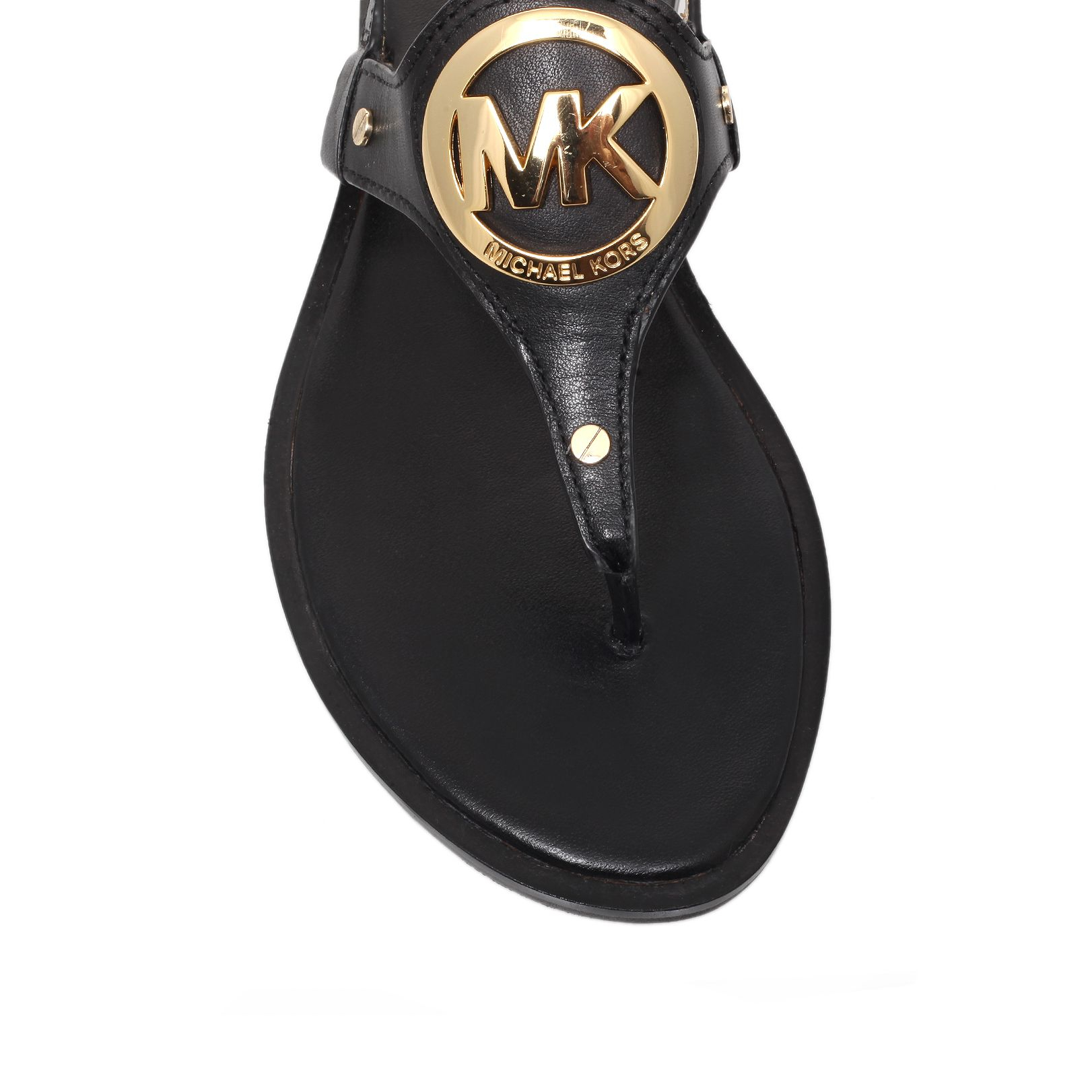 michael kors charm sandals in black lyst