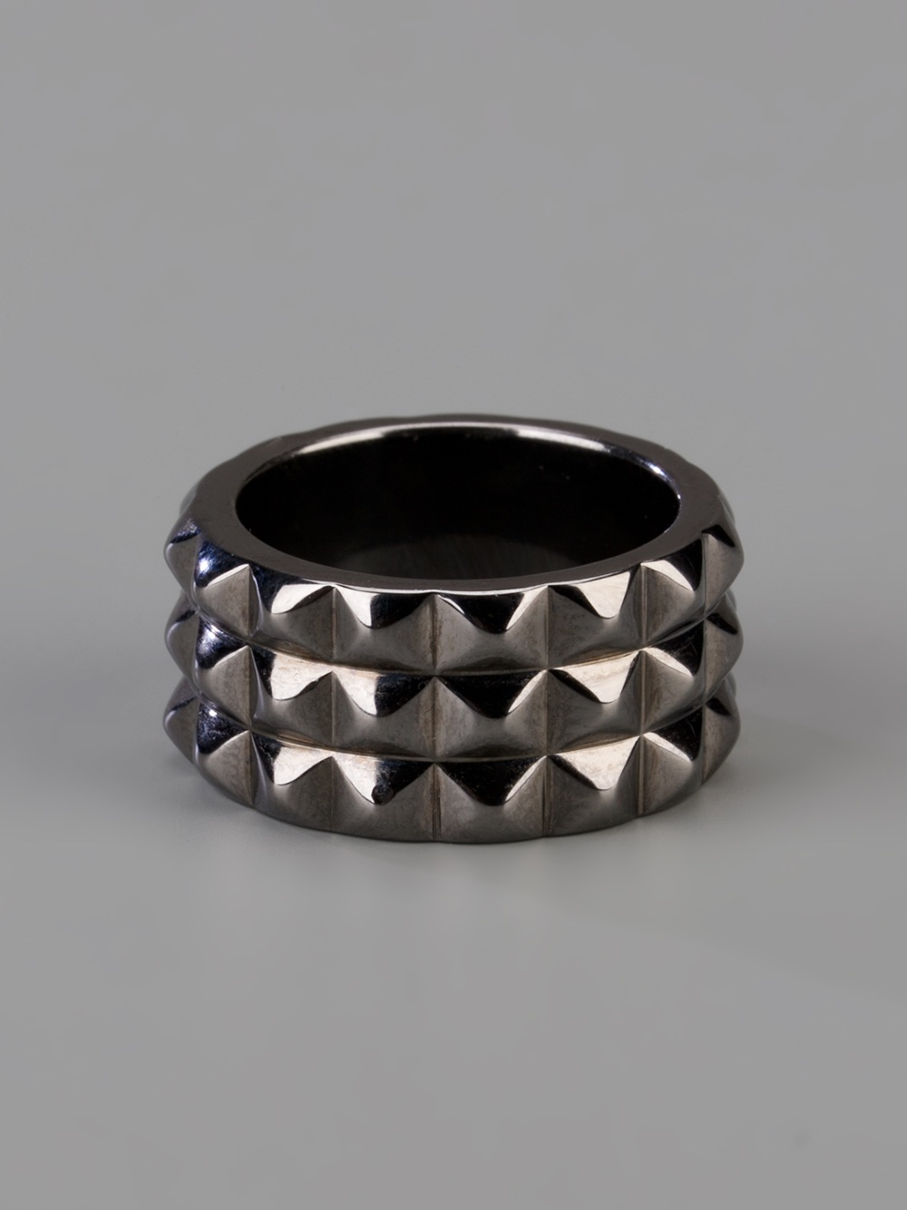 stephen webster rhodium silver stud ring in silver for men