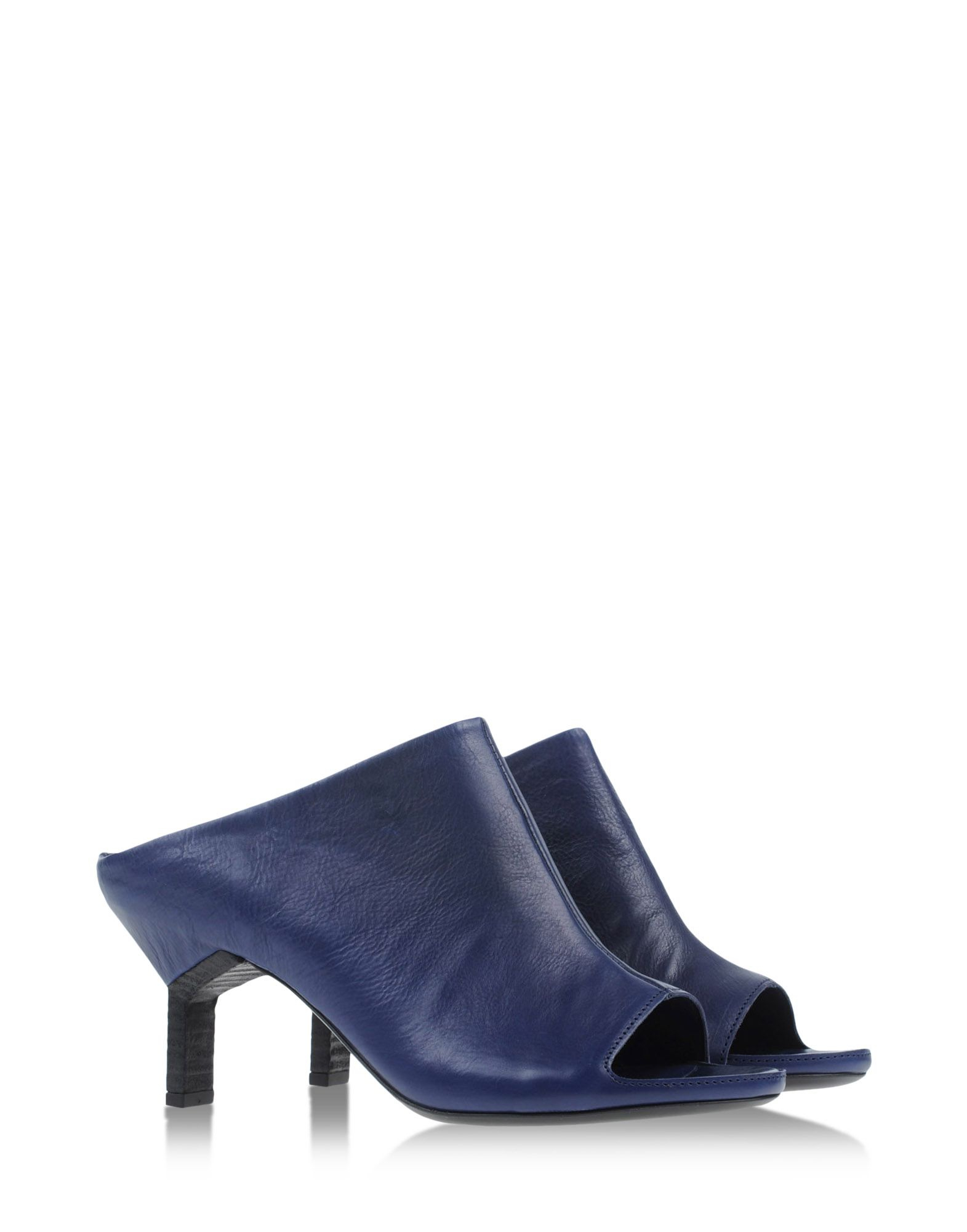 vic matie 39 mules clogs in blue dark blue lyst. Black Bedroom Furniture Sets. Home Design Ideas