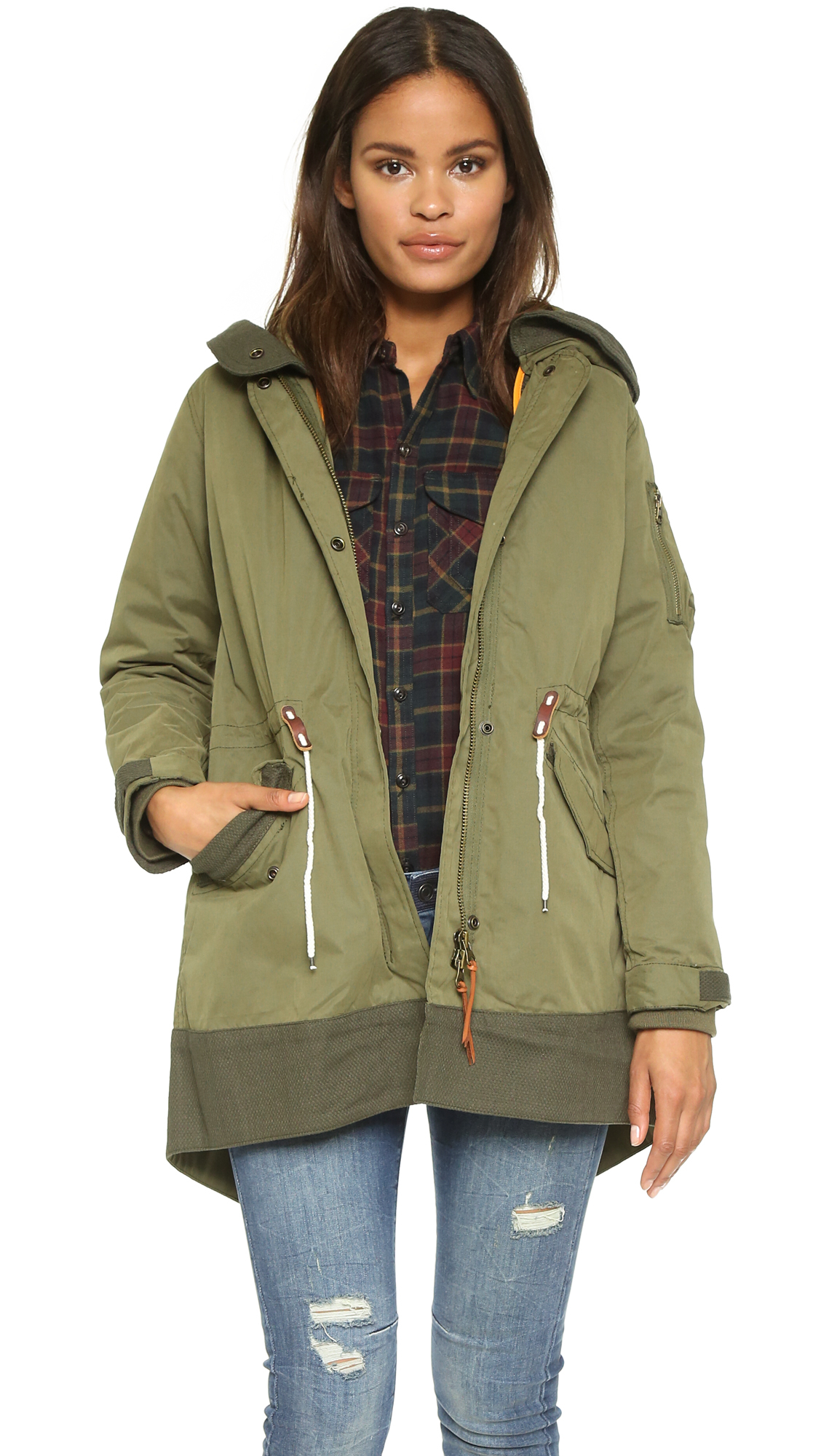 scotch soda bomber parka in green lyst. Black Bedroom Furniture Sets. Home Design Ideas