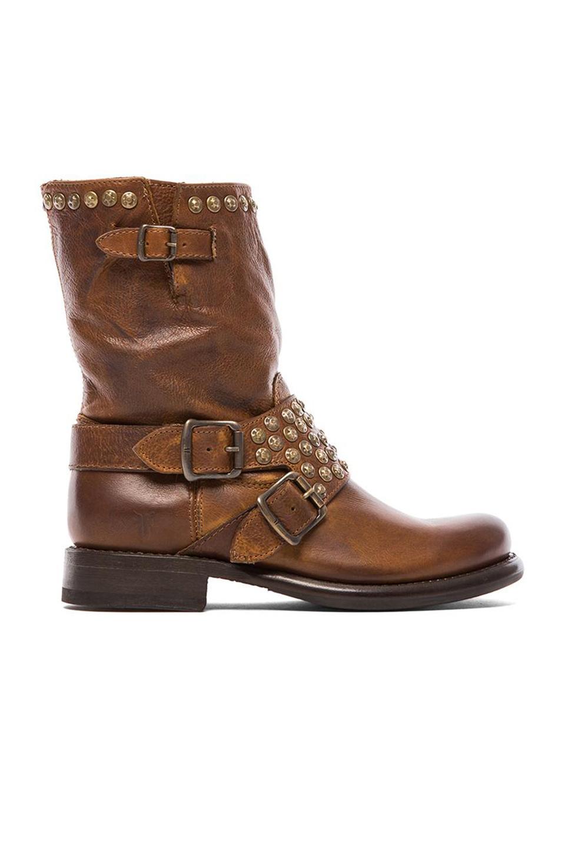 Frye Jenna Studded Short Boot In Cognac Brown Lyst