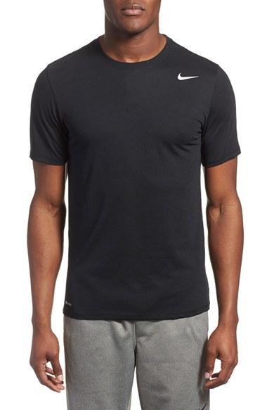 Nike 39 dri blend 39 dri fit training t shirt in black for men for Dri fit material shirts